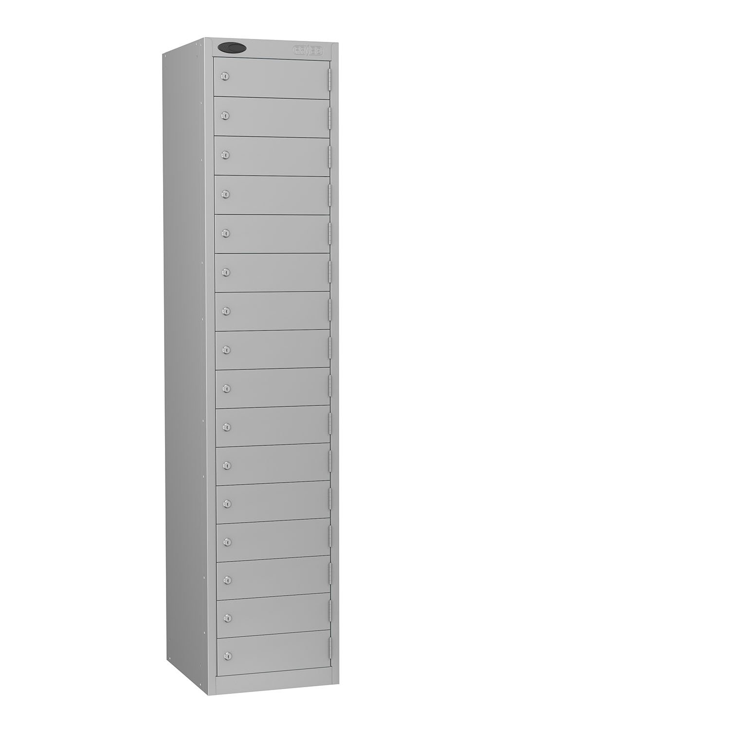 Probe 16 doors small compartments lockers in sliver colour