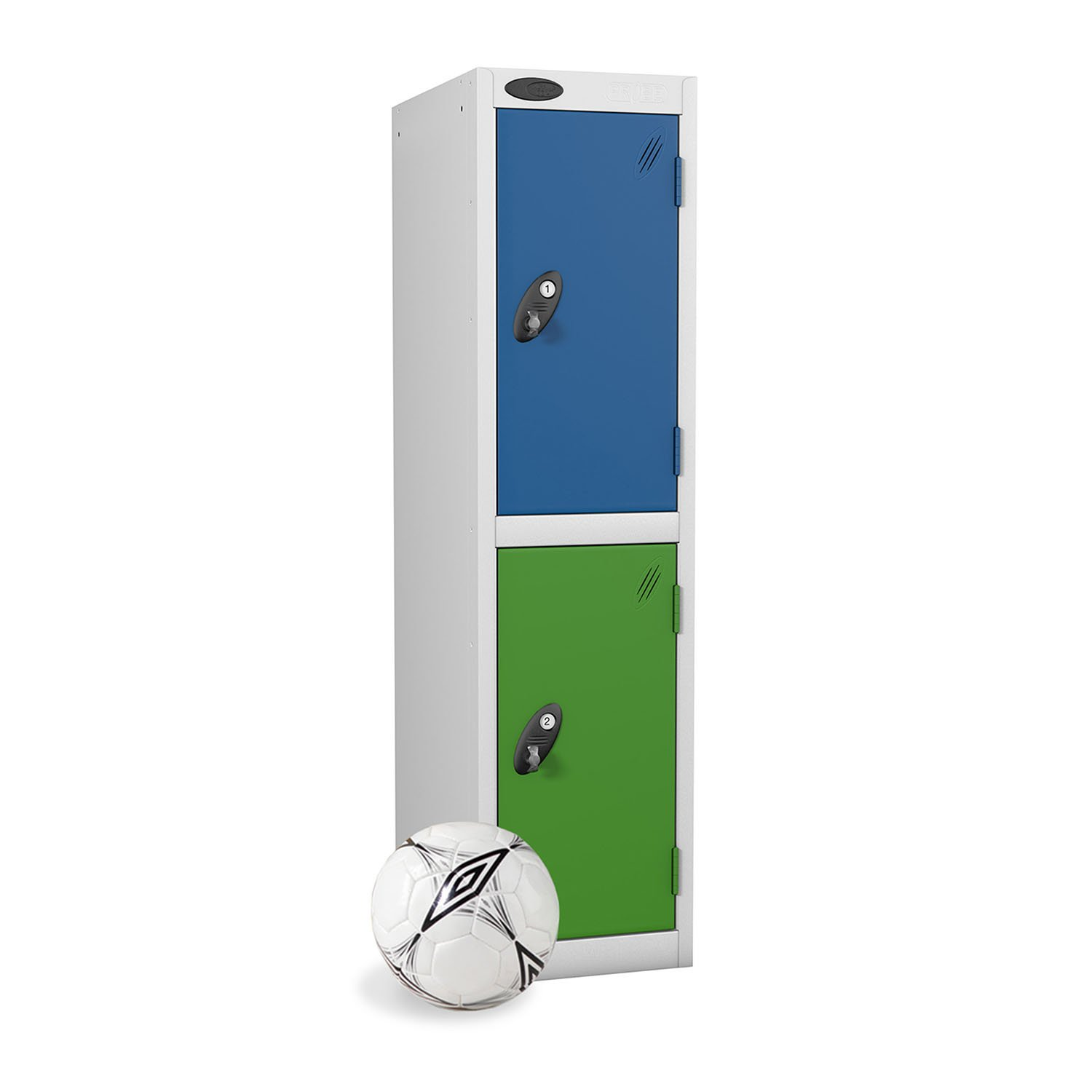 Probe 2 doors low locker in blue and green colour
