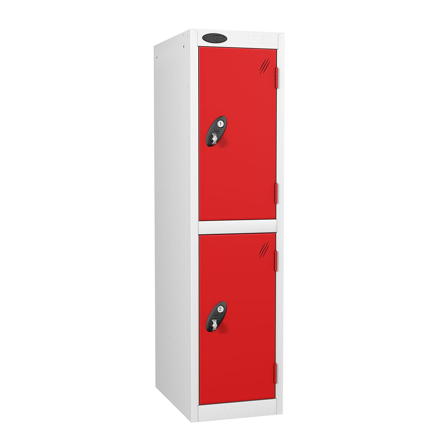Probe 2 doors low locker in red colour