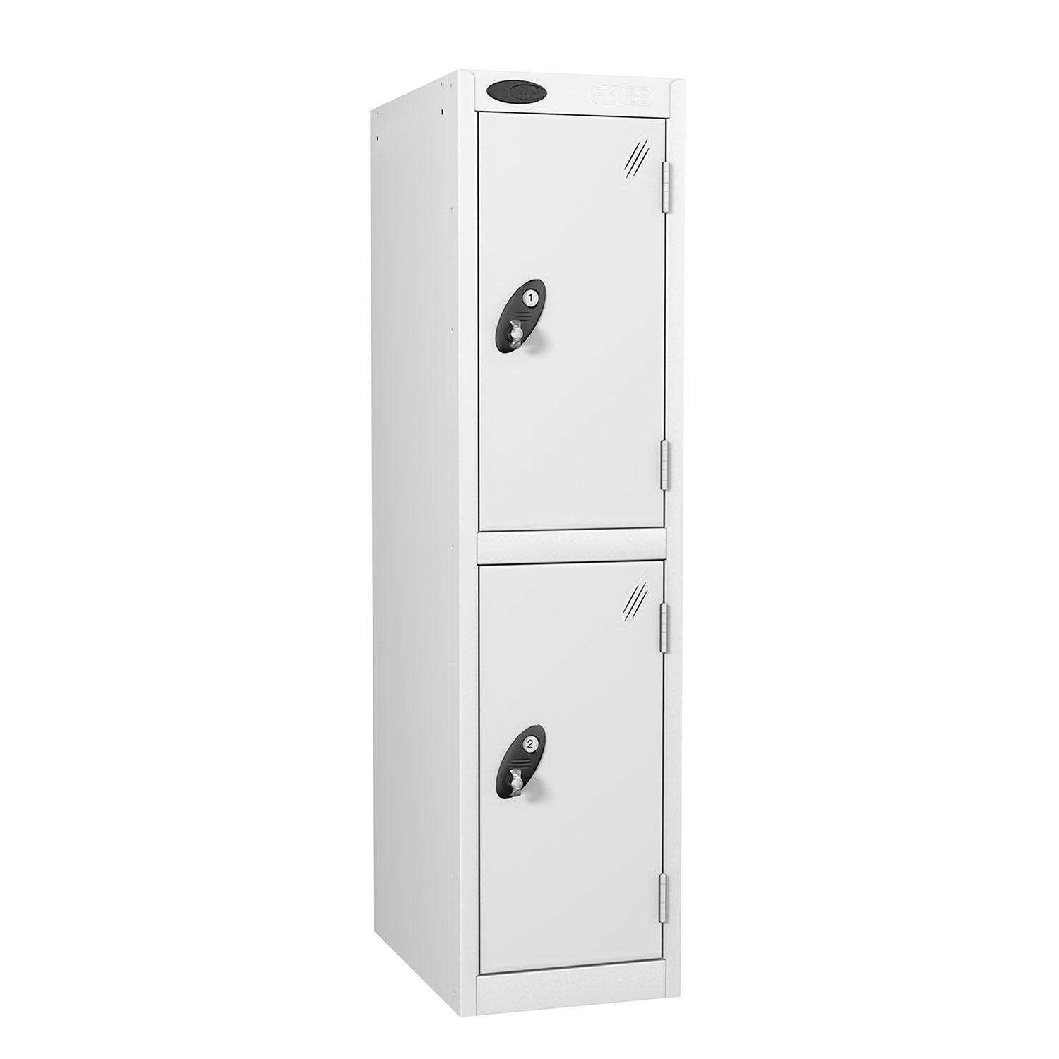 Probe 2 doors low locker in white colour