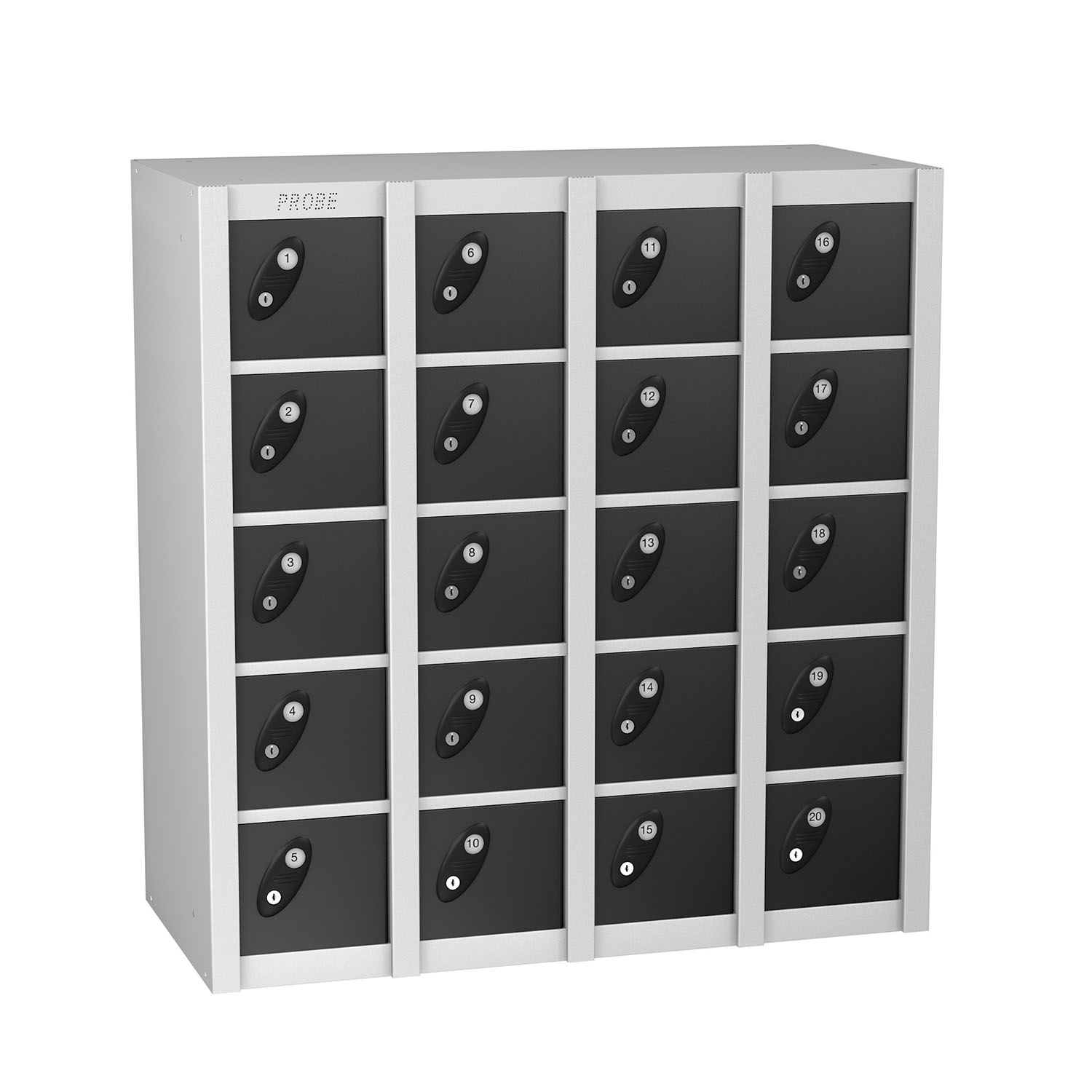 Probe 20 doors minibox lockers in black colour