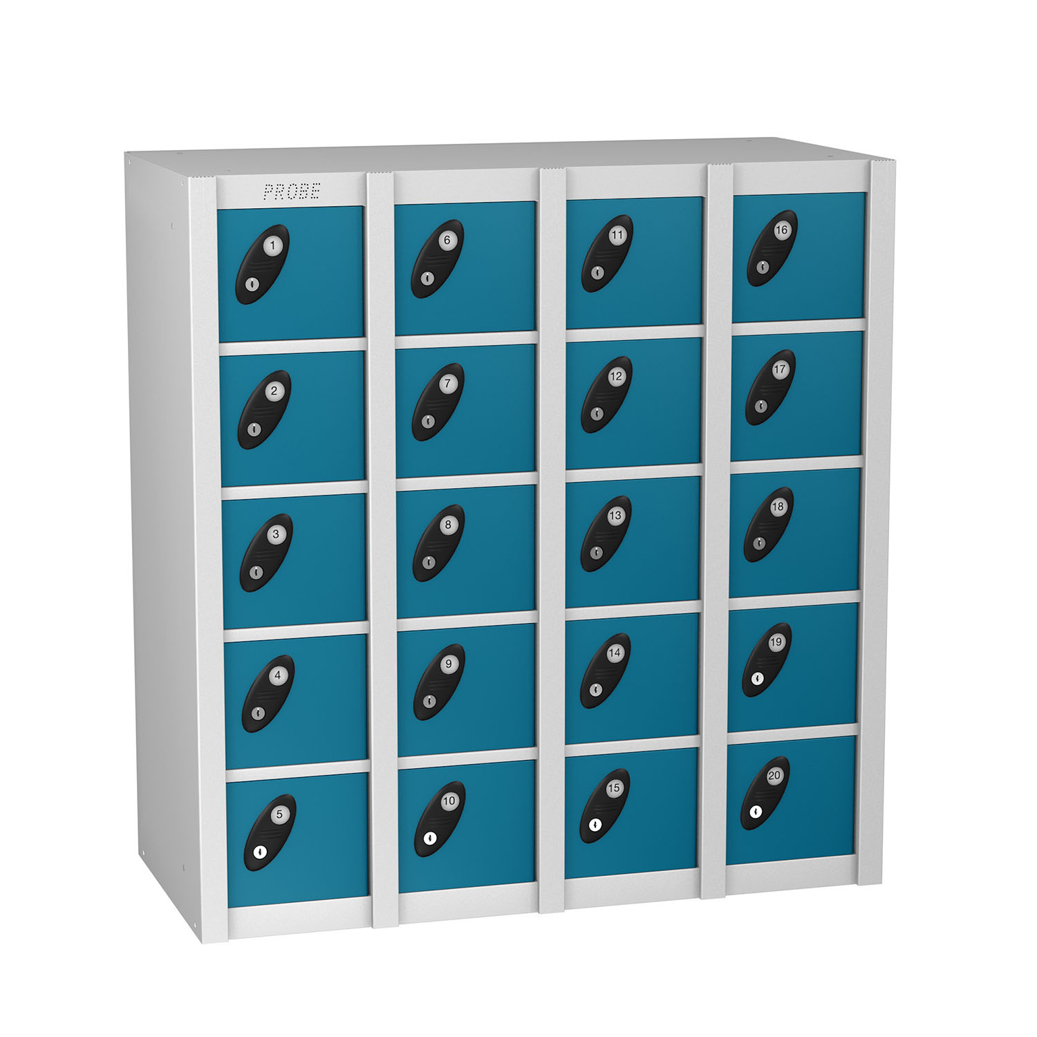 Probe 20 doors minibox lockers in blue colour