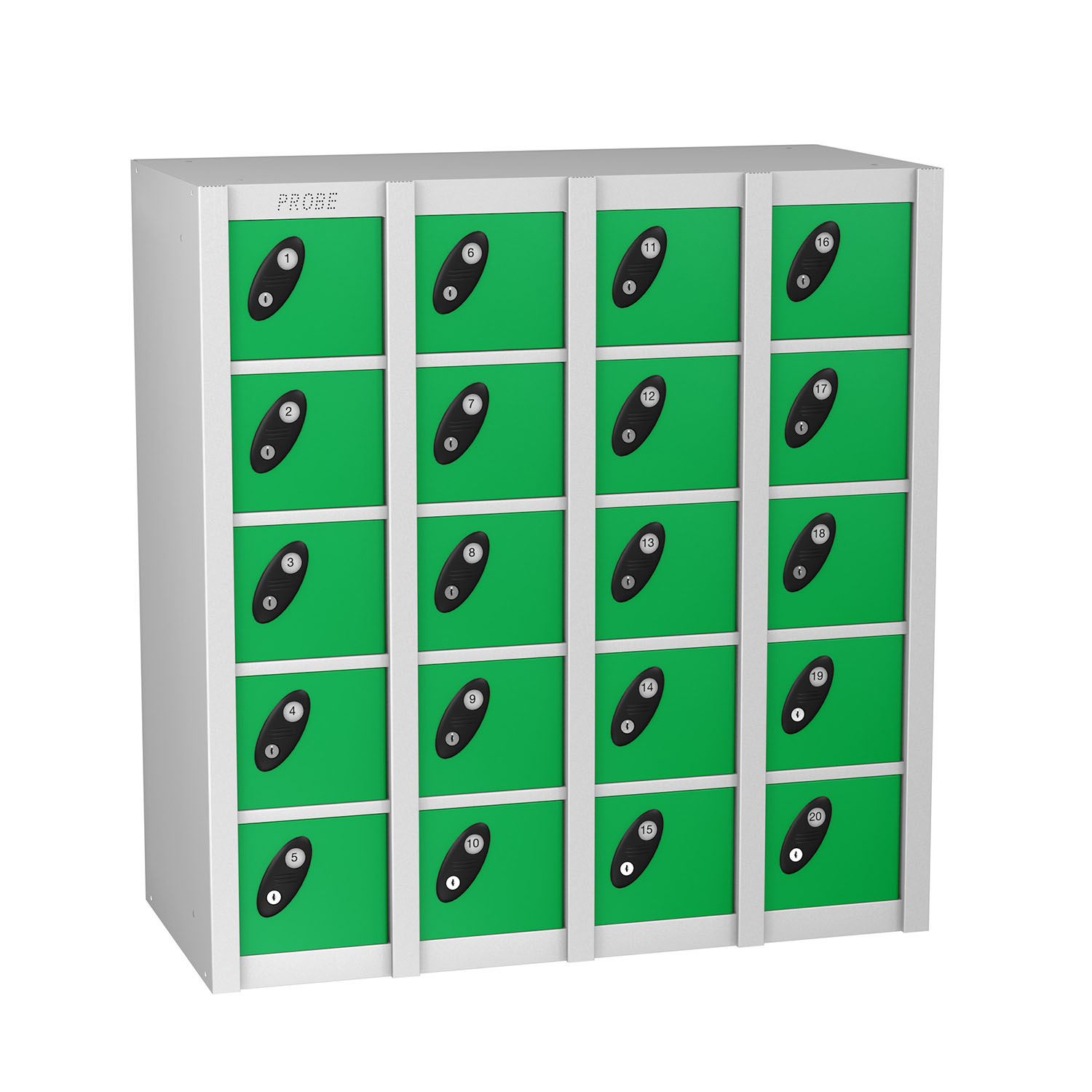 Probe 20 doors minibox lockers in green colour
