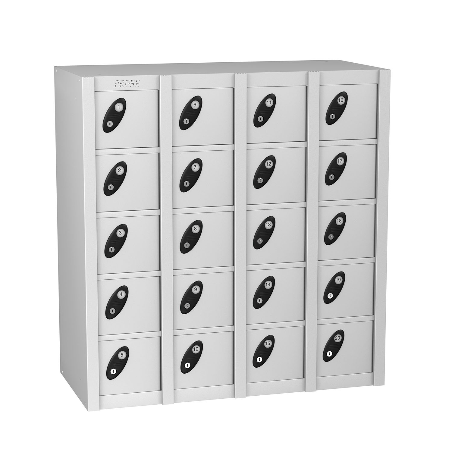 Probe 20 doors minibox lockers in white colour