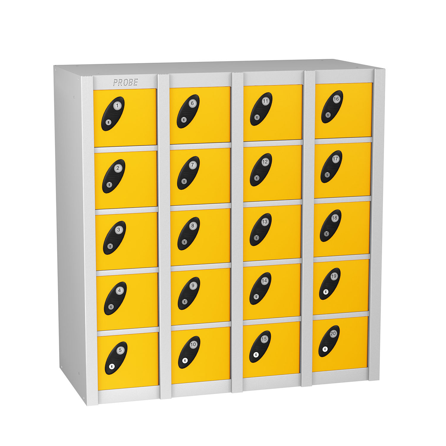 Probe 20 doors minibox lockers in yellow colour