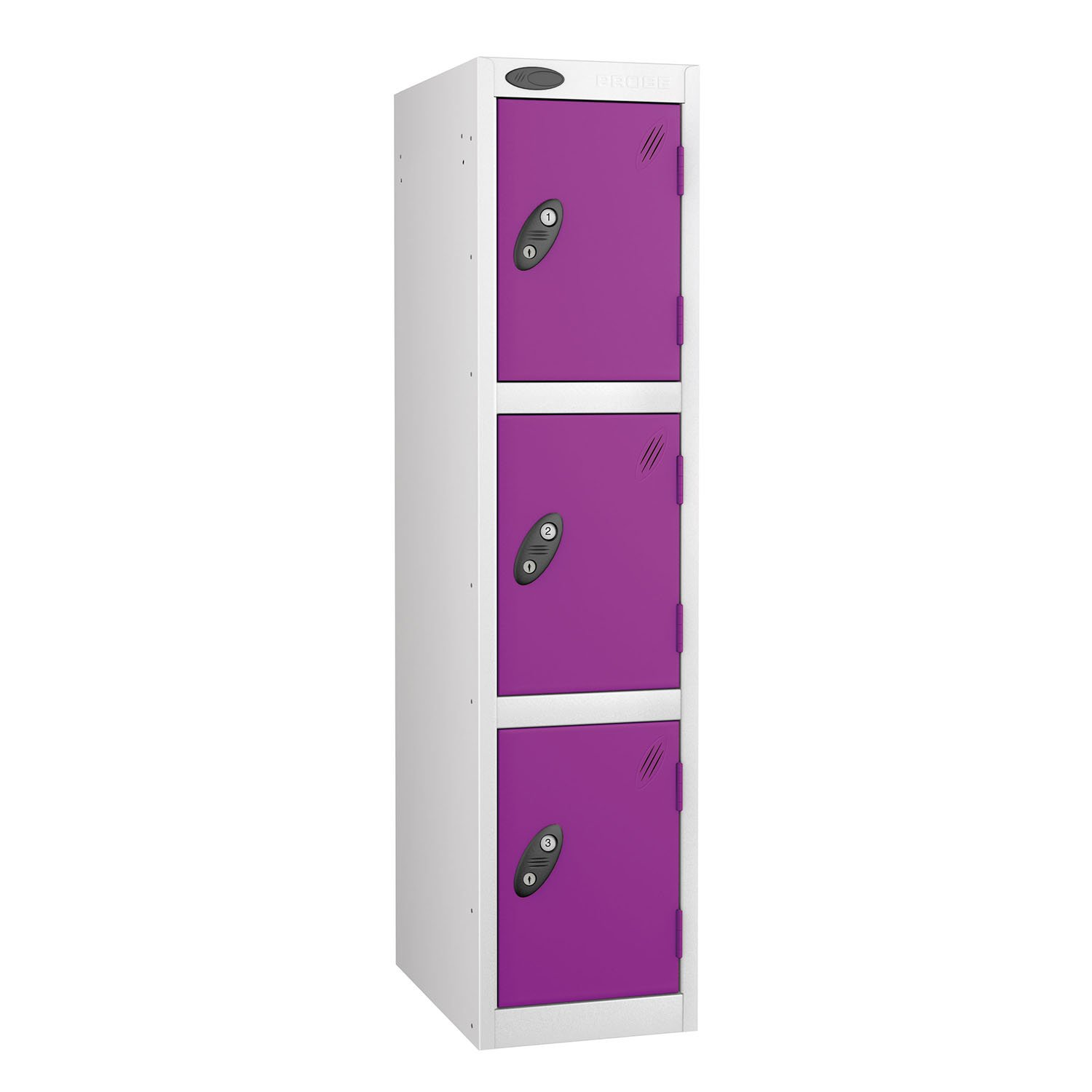 Probe 3 doors junior low locker in white-lilac colour