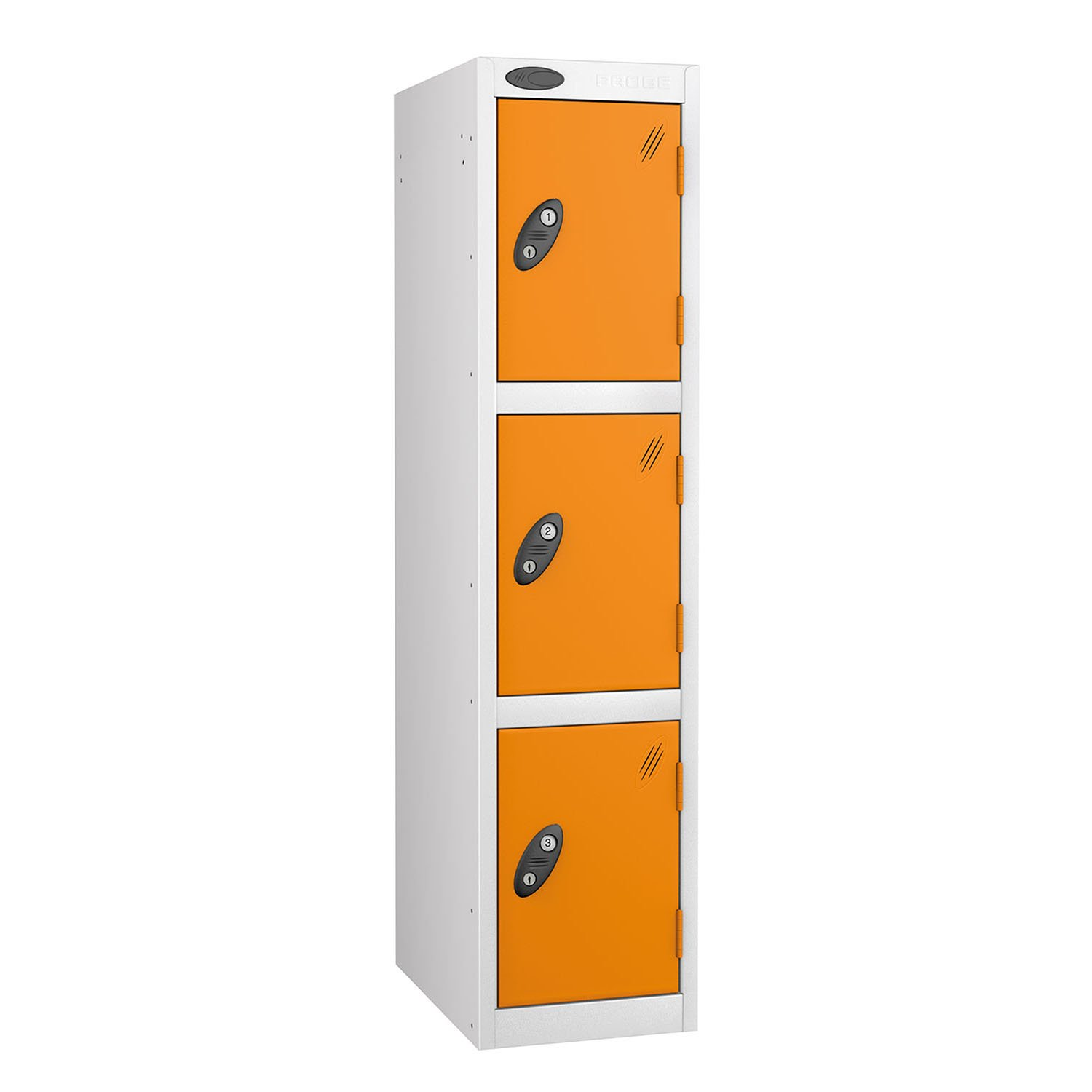 Probe 3 doors junior low locker in white-orange colour