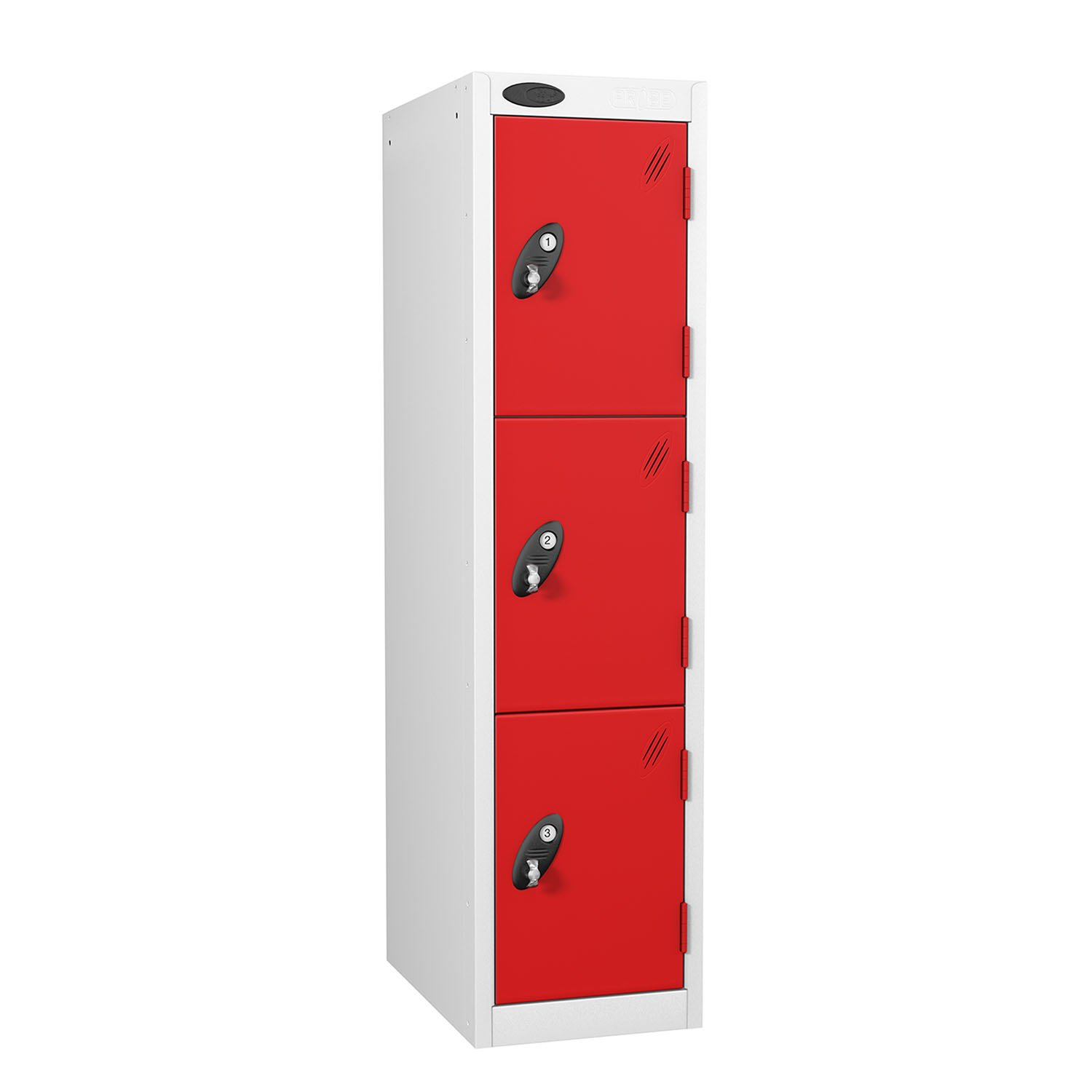 Probe 3 doors low locker in red colour