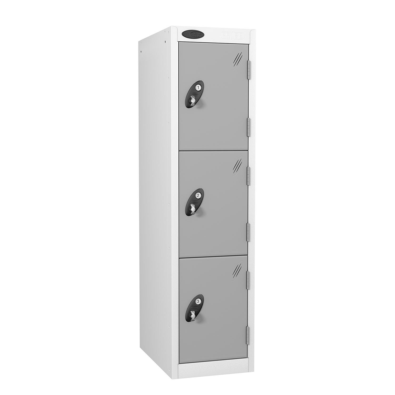 Probe 3 doors low locker in silver colour