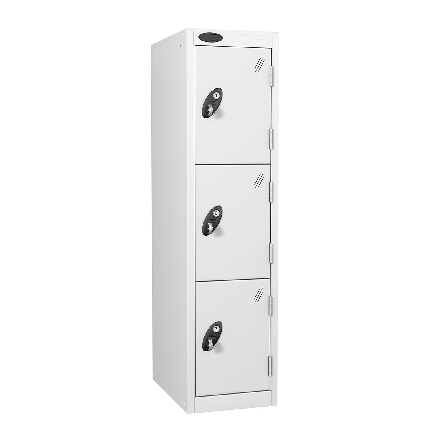 Probe 3 doors low locker in white colour