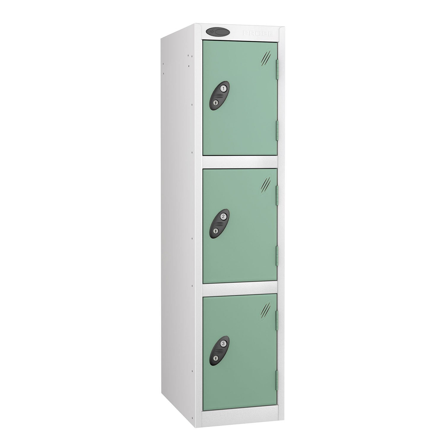 Probe 3 doors low locker in white-jade colour