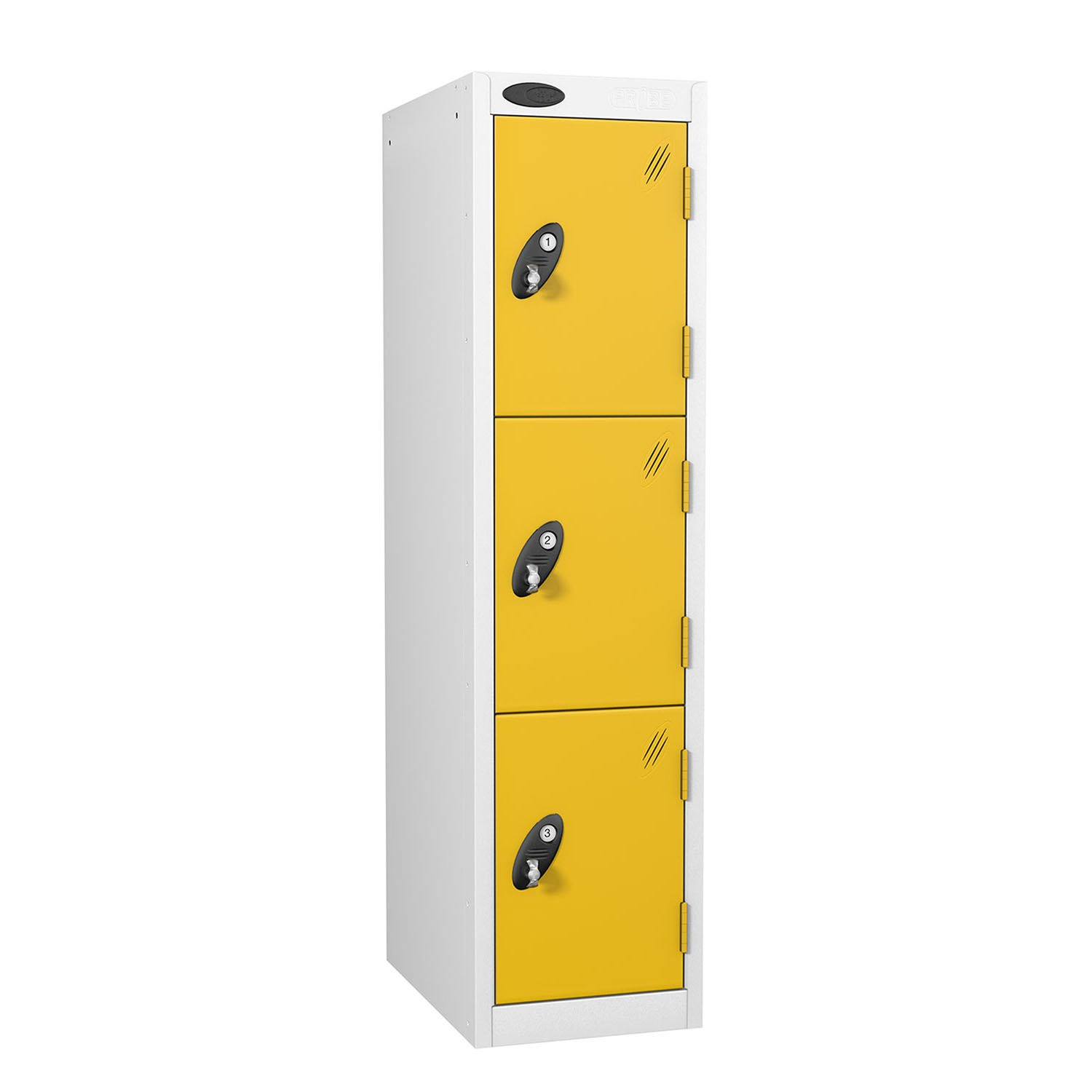 Probe 3 doors low locker in yellow colour