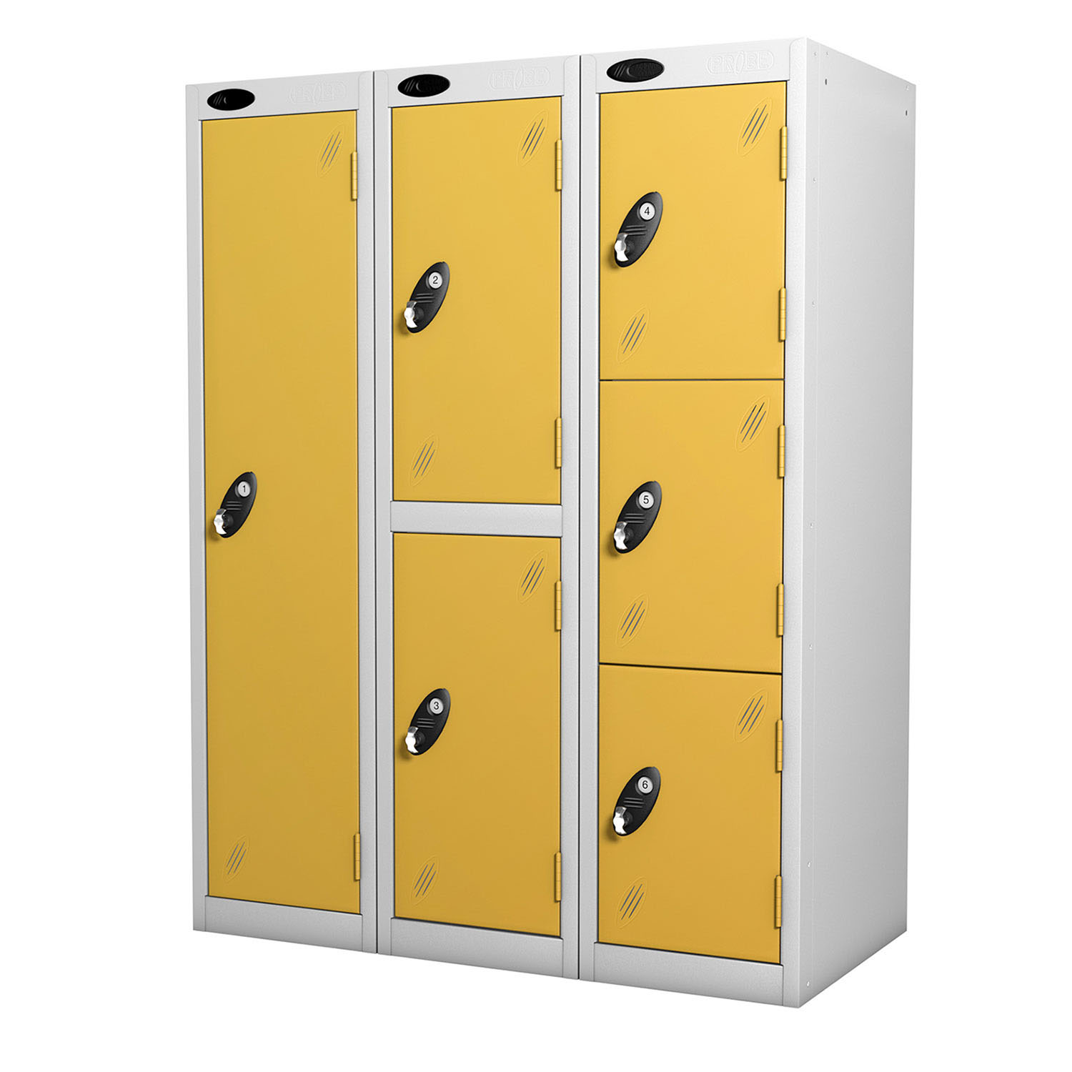 Probe 6 doors low locker in yellow colour
