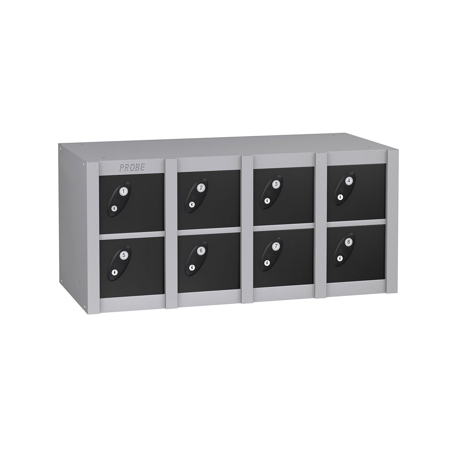 Probe 8 doors minibox lockers in black colour