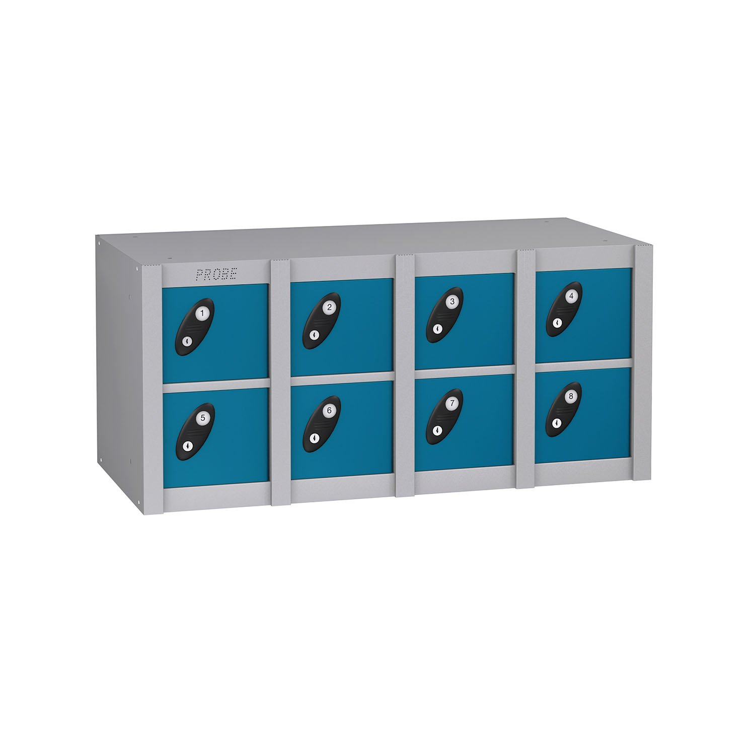 Probe 8 doors minibox lockers in blue colour