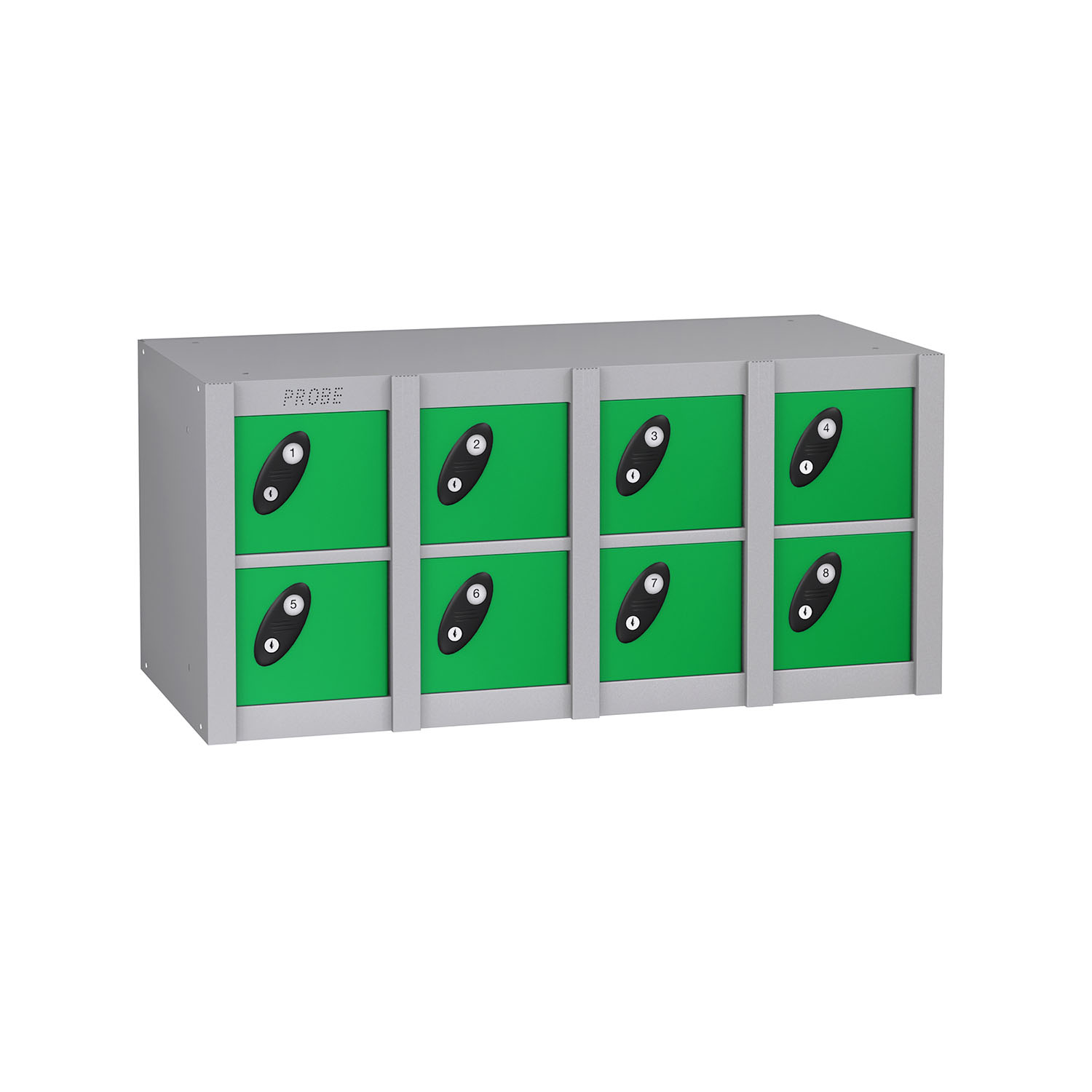 Probe 8 doors minibox lockers in green colour