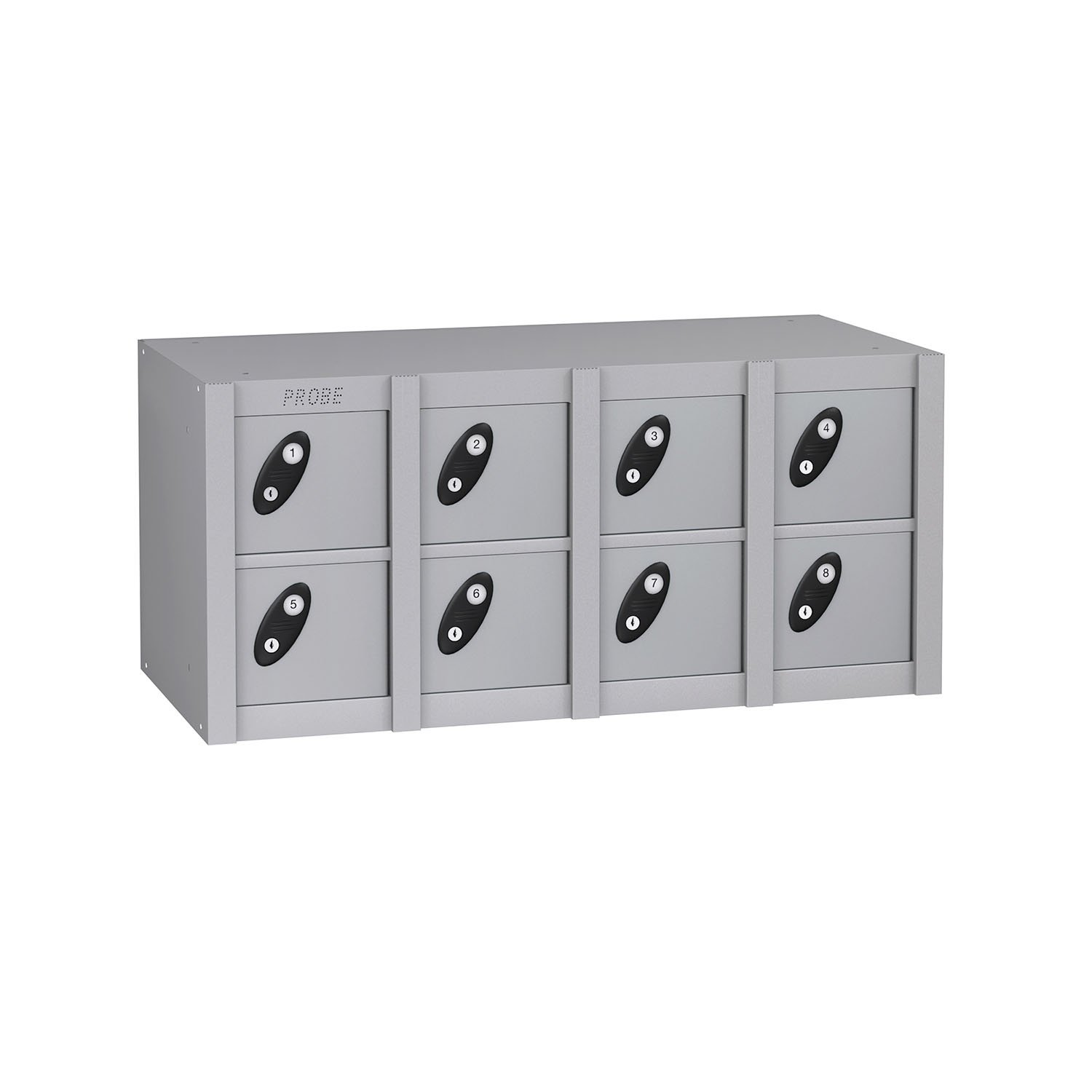 Probe 8 doors minibox lockers in sliver colour