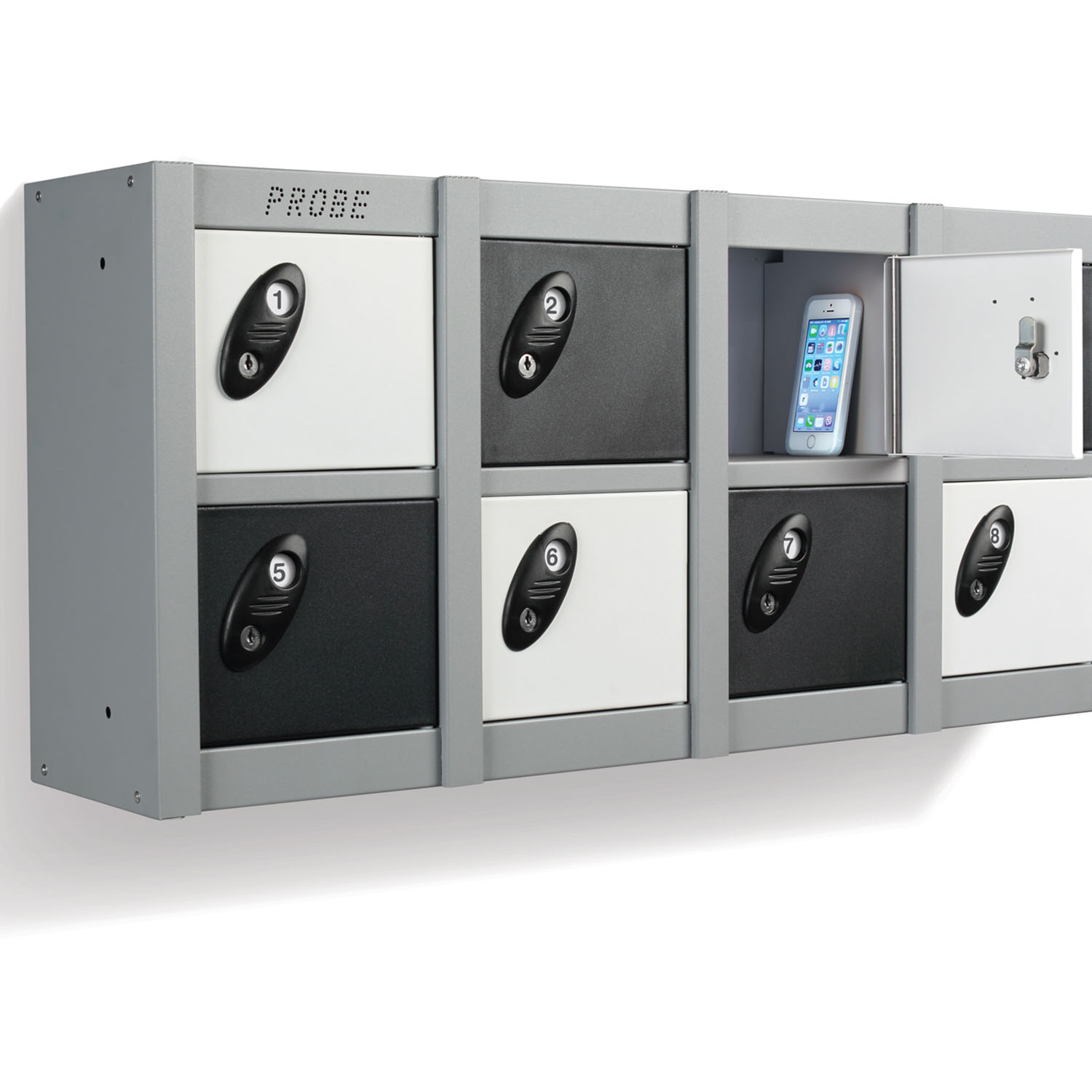 Probe 8 doors minibox wall mounted lockers