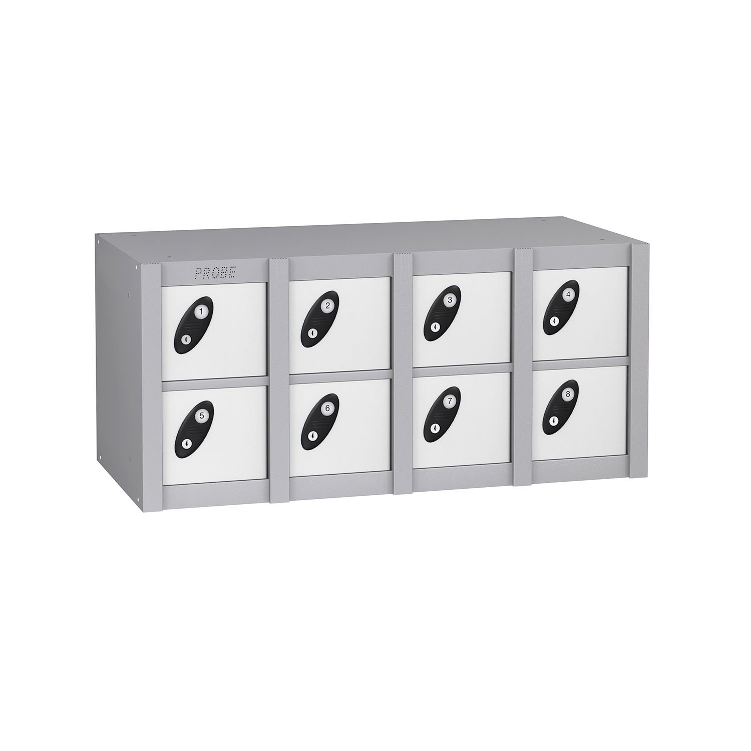 Probe 8 doors minibox lockers in white colour