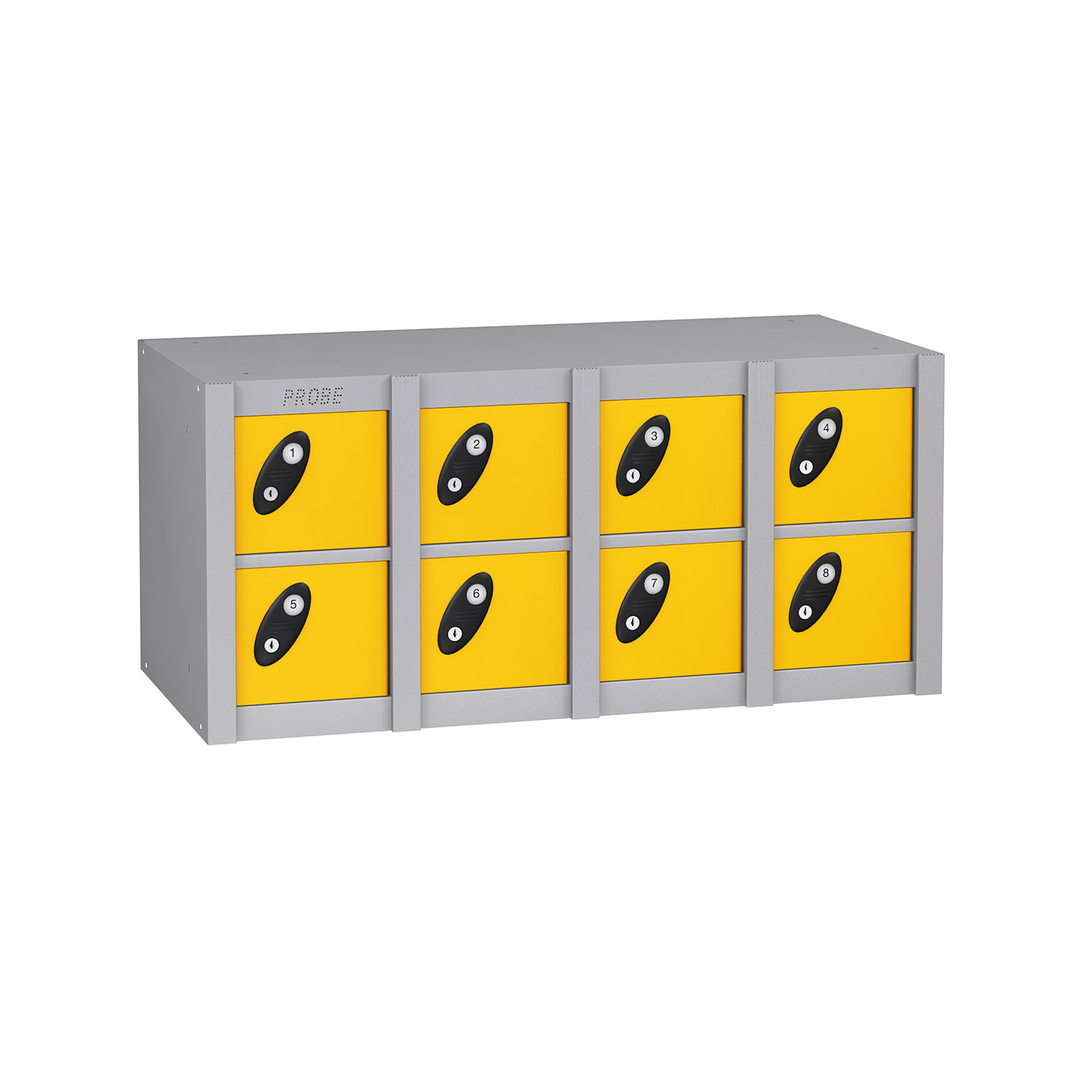 Probe 8 doors minibox lockers in yellow colour