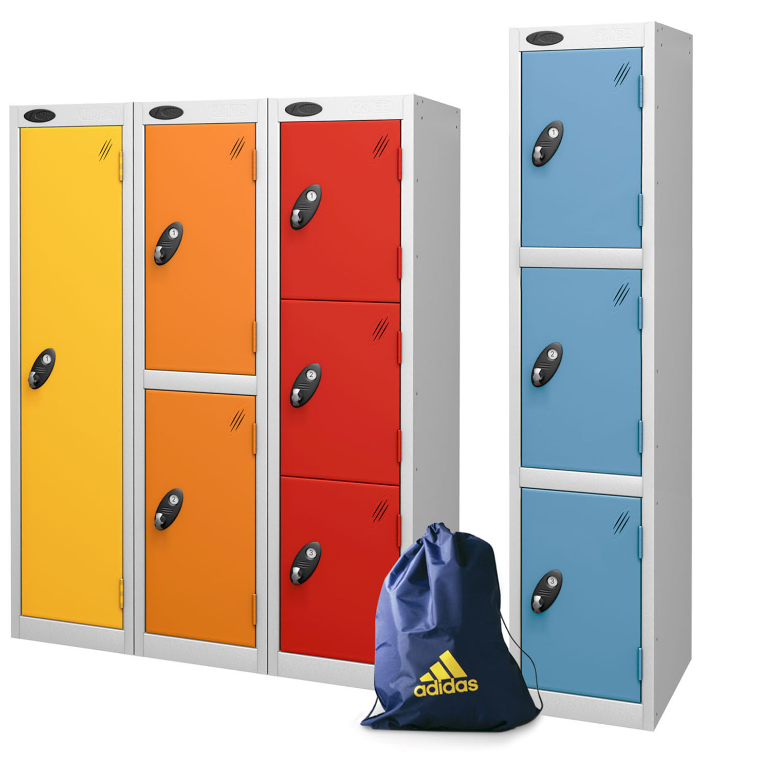 Probe 9 doors low locker for junior in multi colours