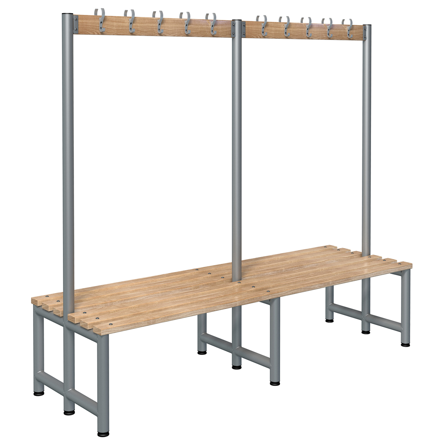 Probe cloakroom hook bench timber
