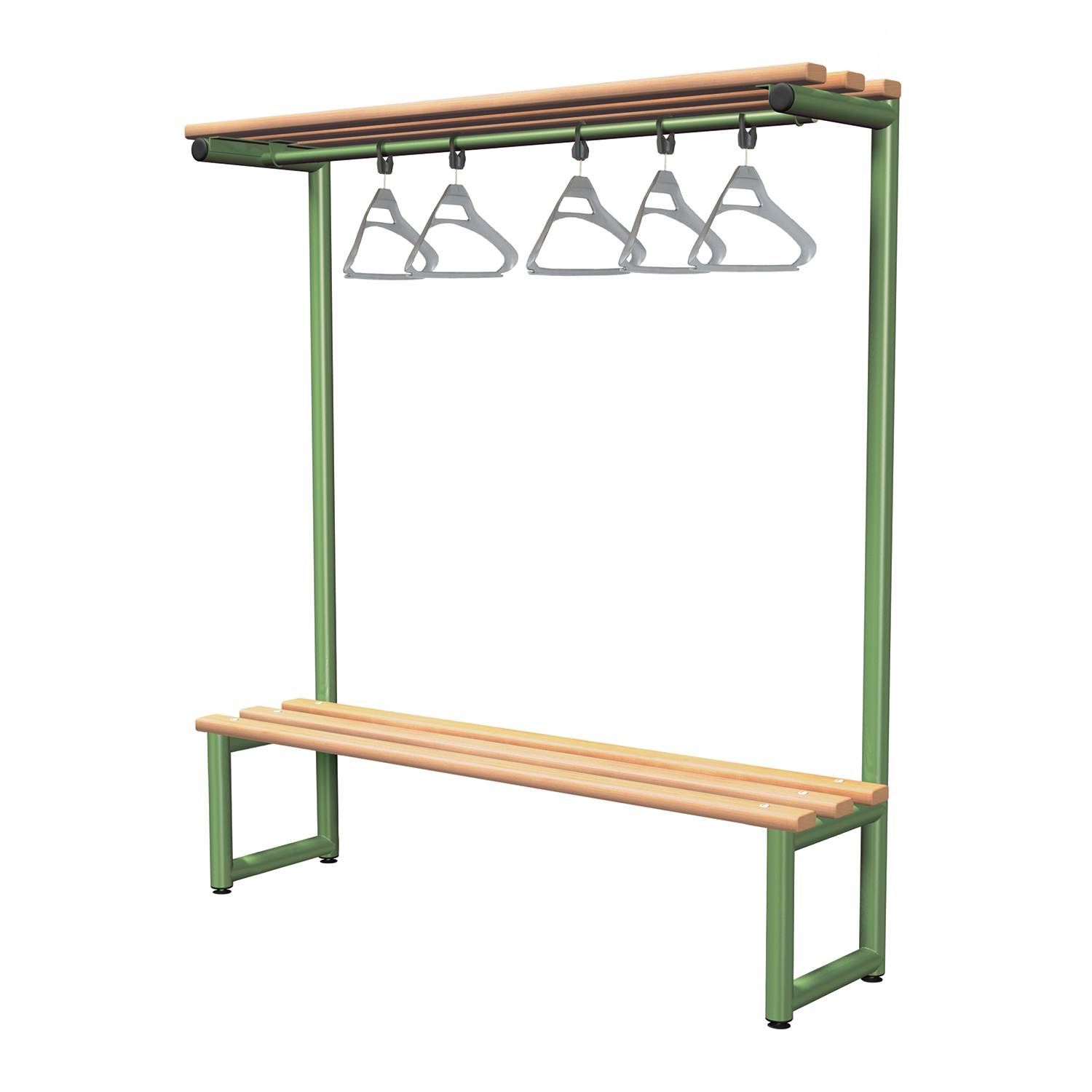 Probe cloakroom overhead hanging bench