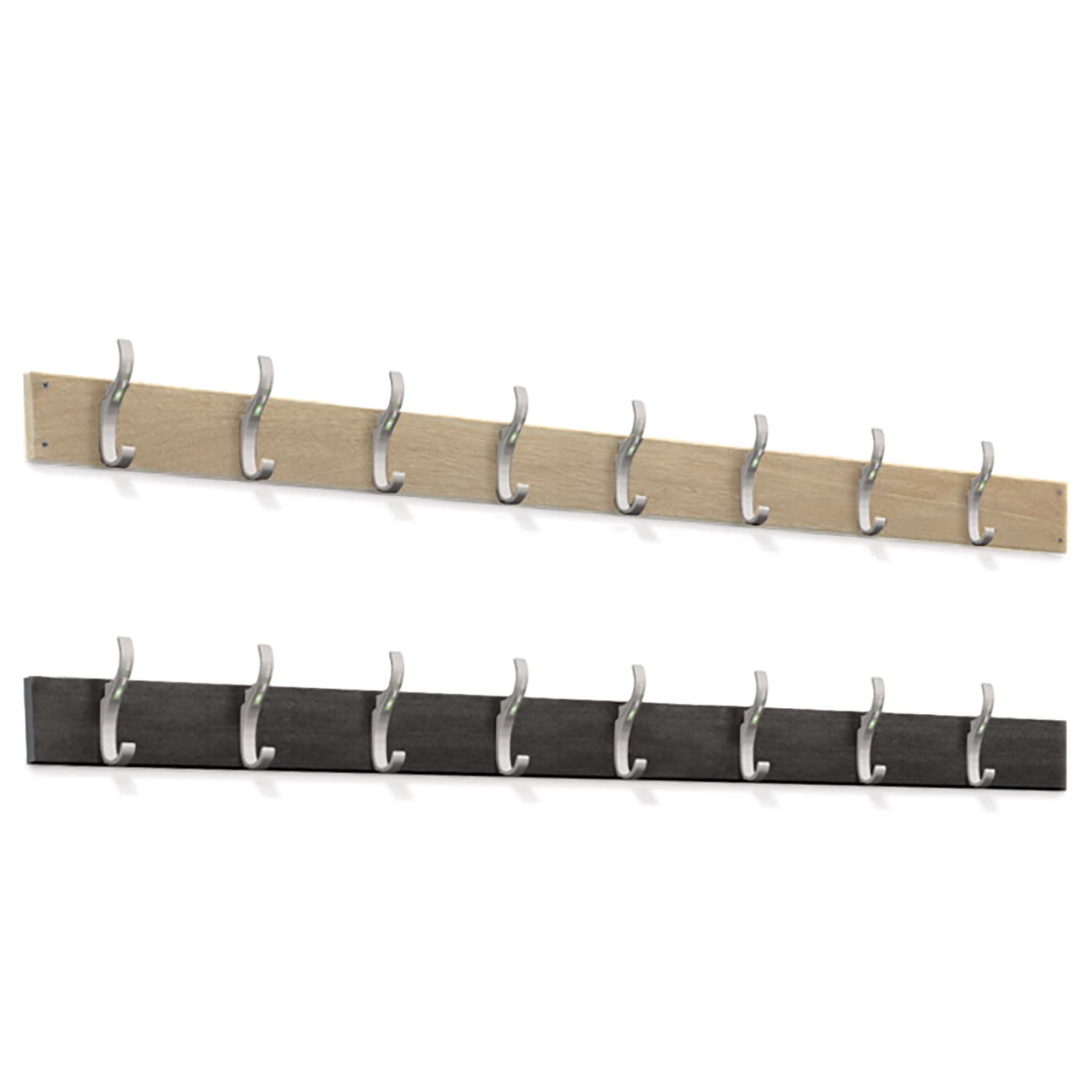 Probe cloakroom wall hook strip