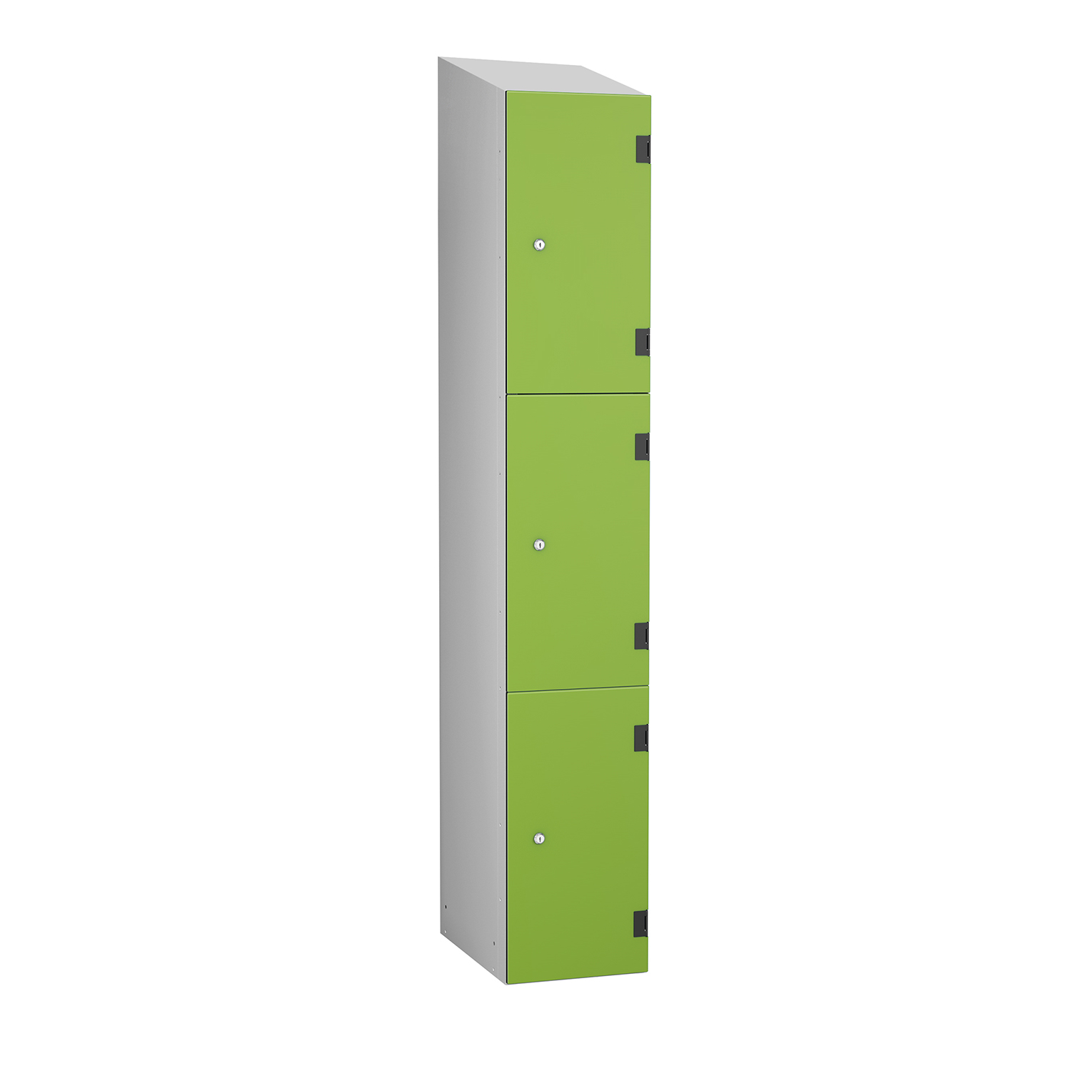 Probe shockproof 3 doors low silver sloping top lime