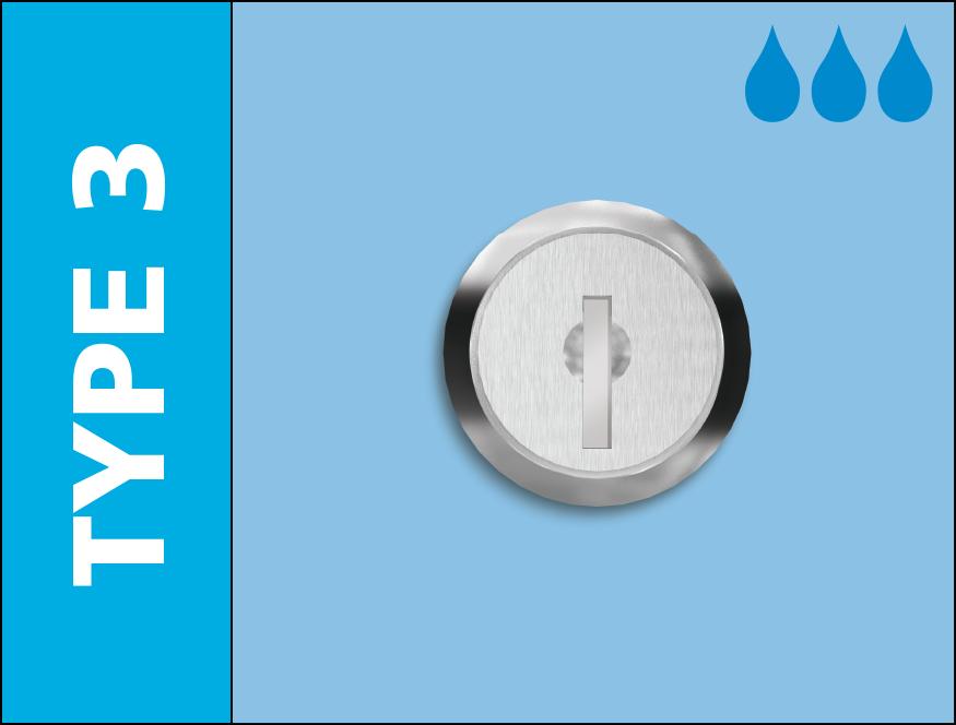 Probe water resistant cam lock type 3