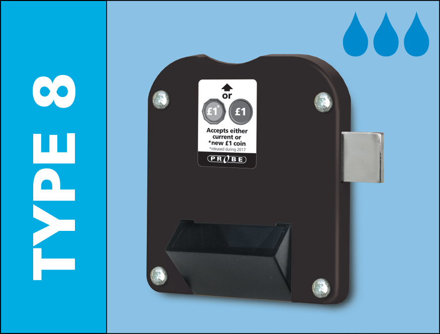 Probe water resistant dual coin type 8