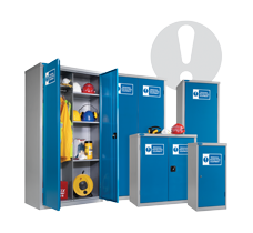 Probe personal protection equipment cabinets