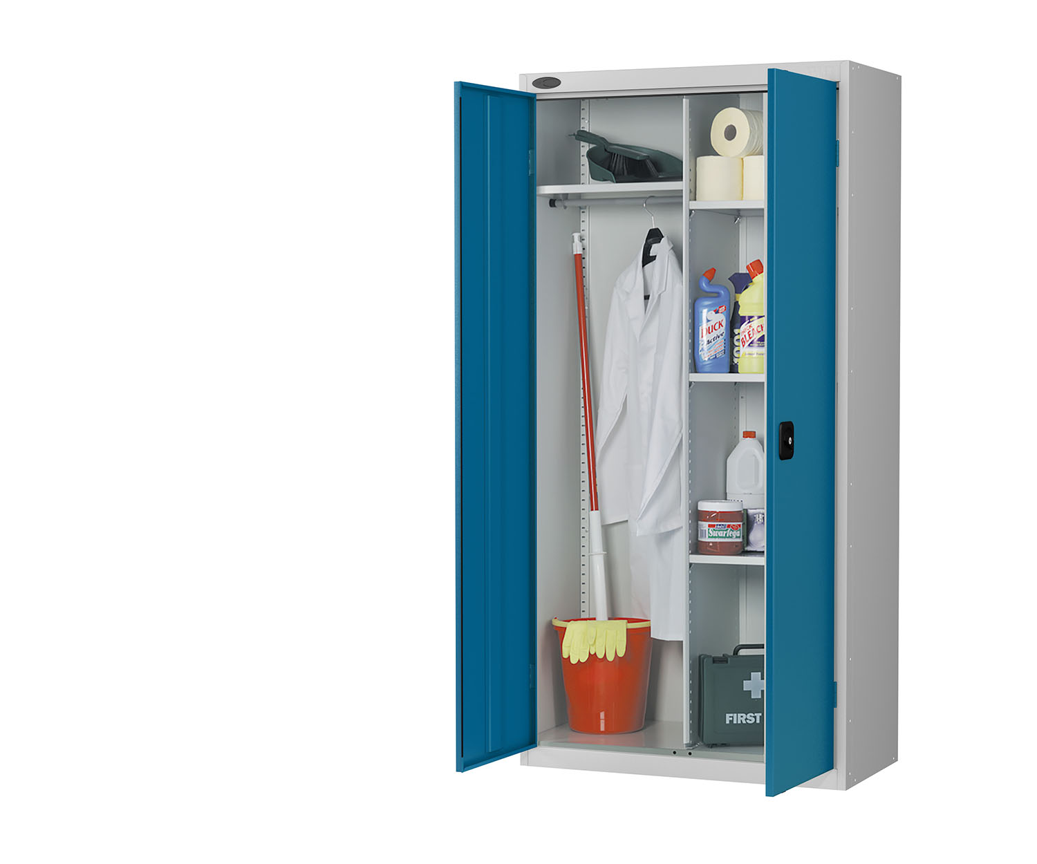 Probe cupboard wardrobe blue