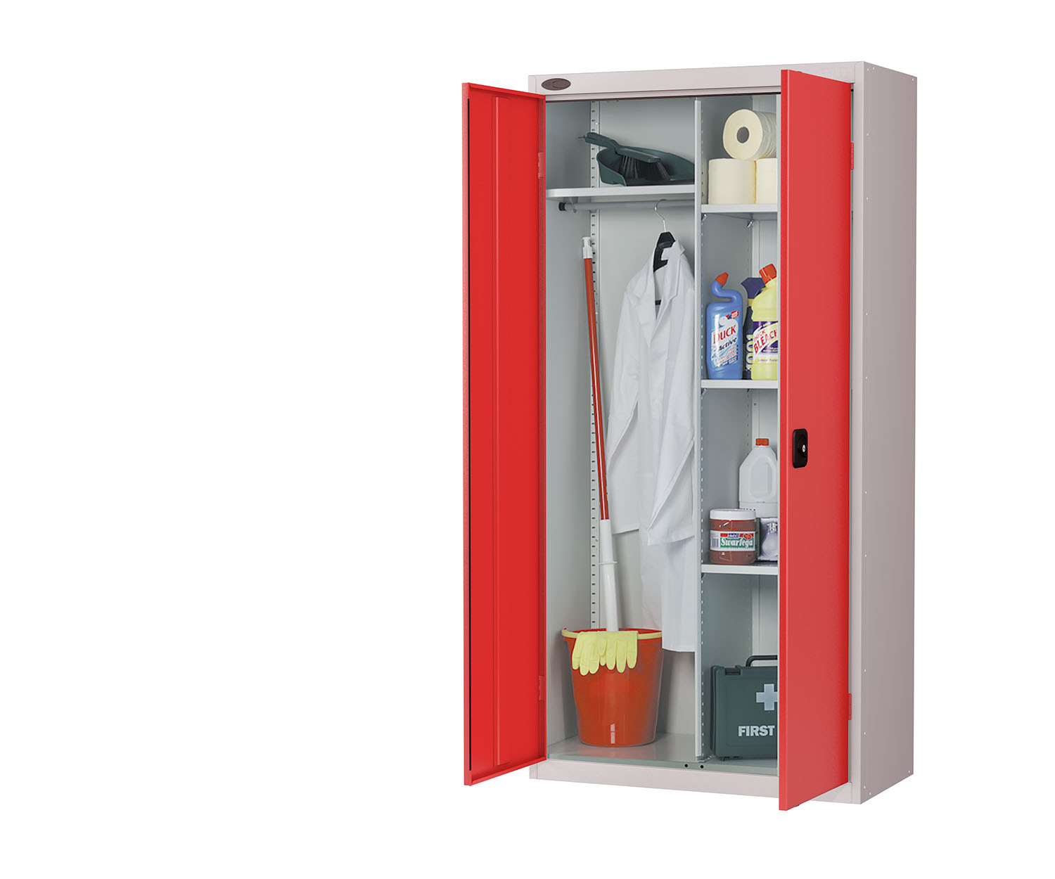 Probe cupboard wardrobe red