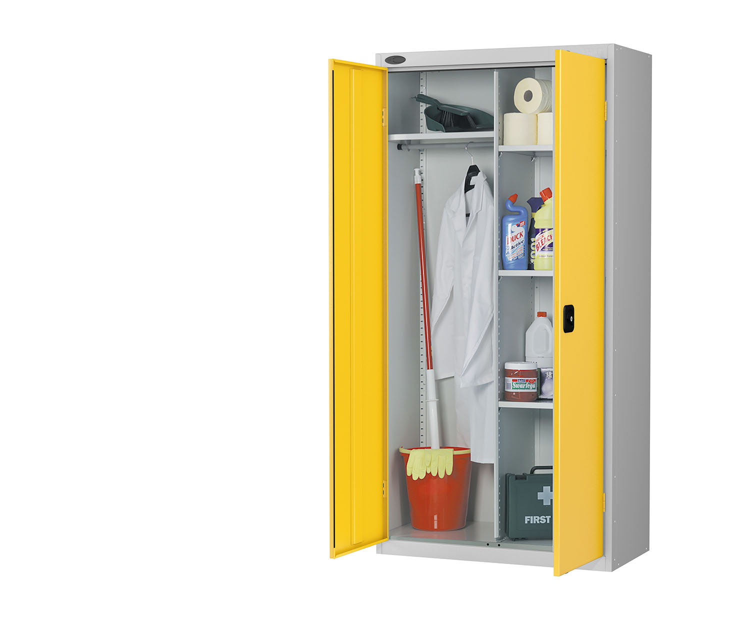 Probe cupboard wardrobe yellow