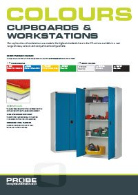 Probe cupboards and workstations colours brochure
