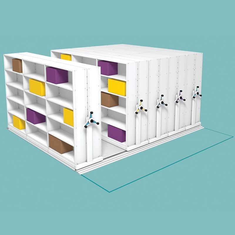 Probe kinetic mobile mini shelves