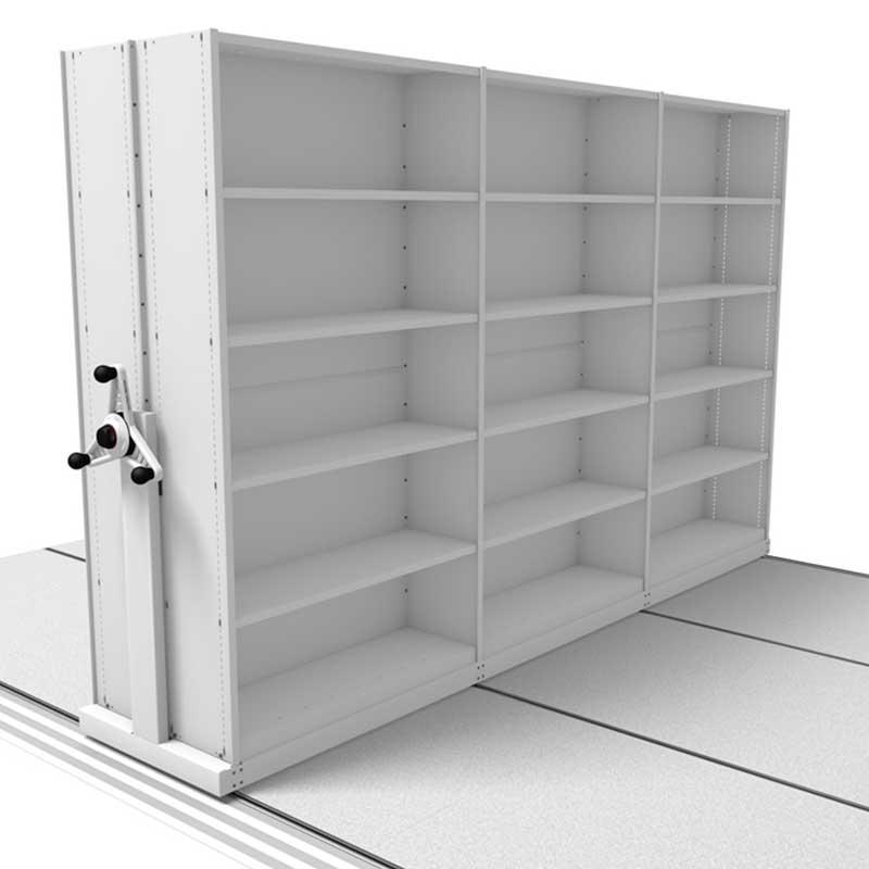 Probe kinetic mobile shelves