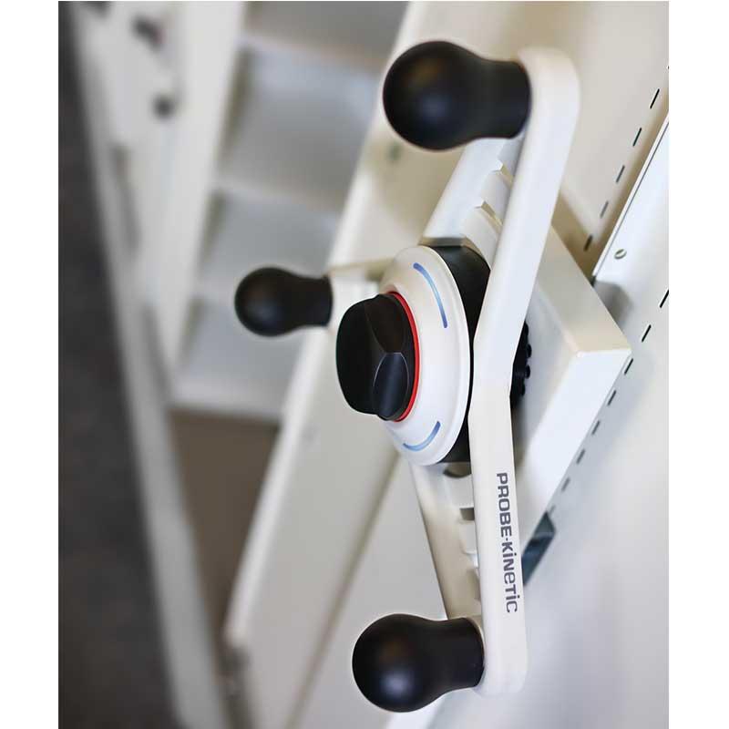 Probe kinetic mobile shelving hand wheel