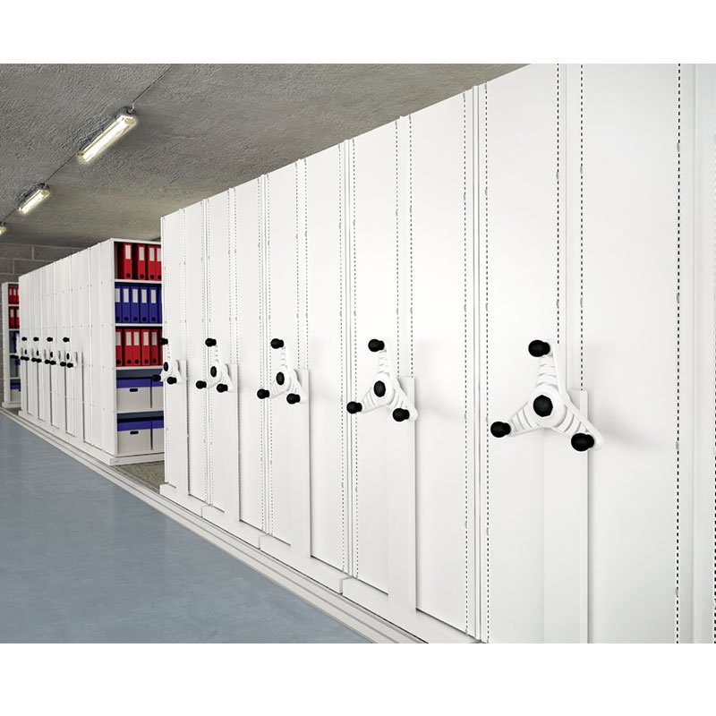 Probe kinetic mobile shelving white end panel