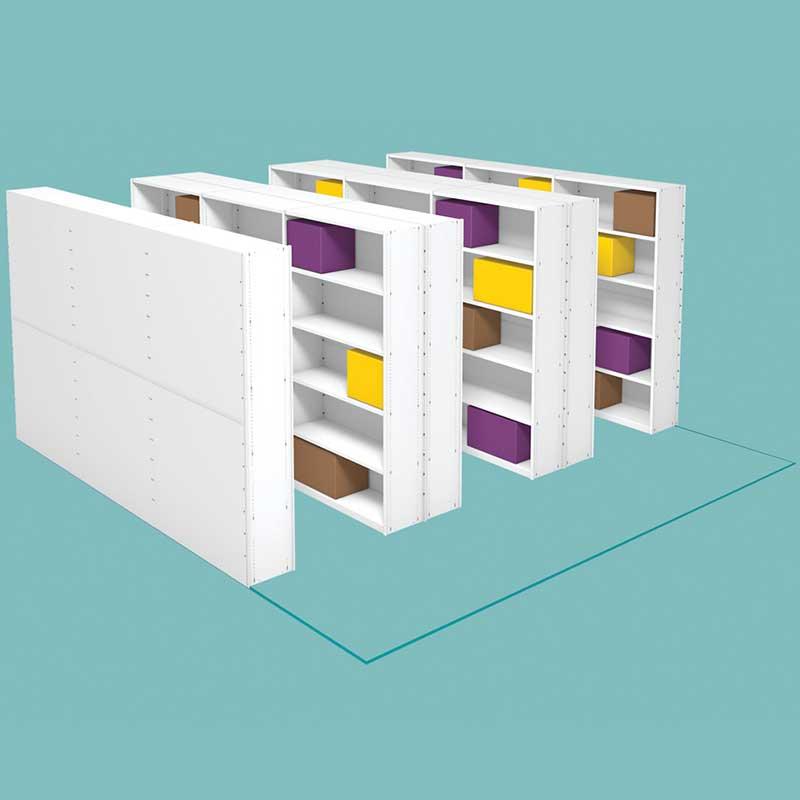 Probe kinetic non mobile mini shelves