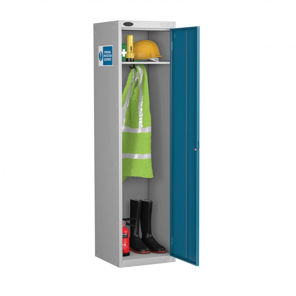 probe ppe slim cabinet in blue colour