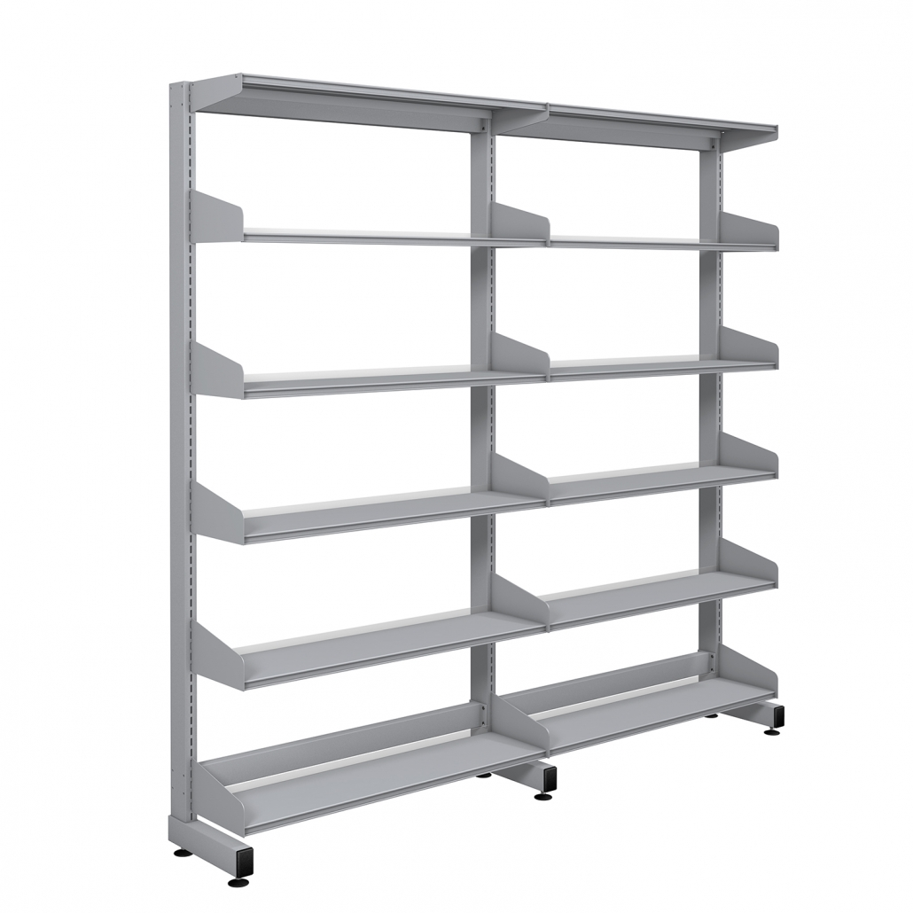 Probe technic library silver frame shelving