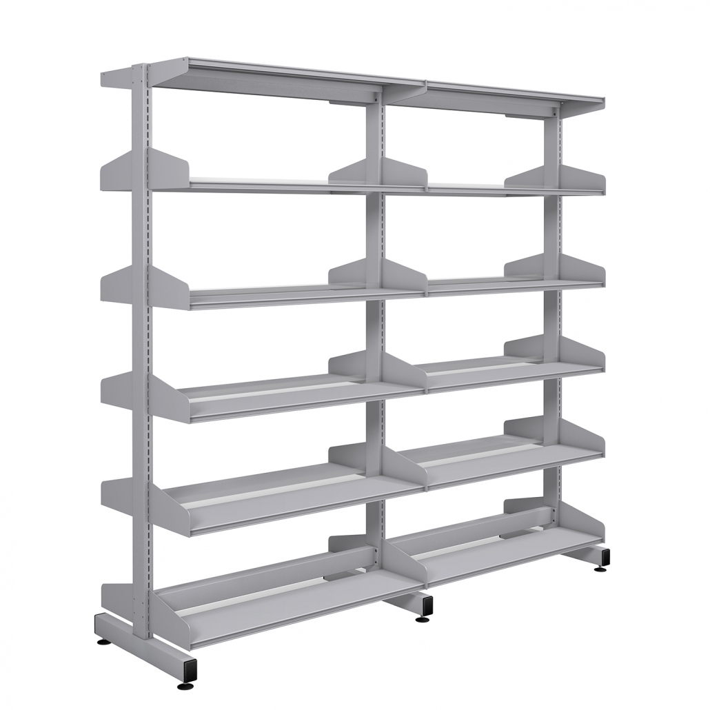 Probe technic library silver frame and silver shelving