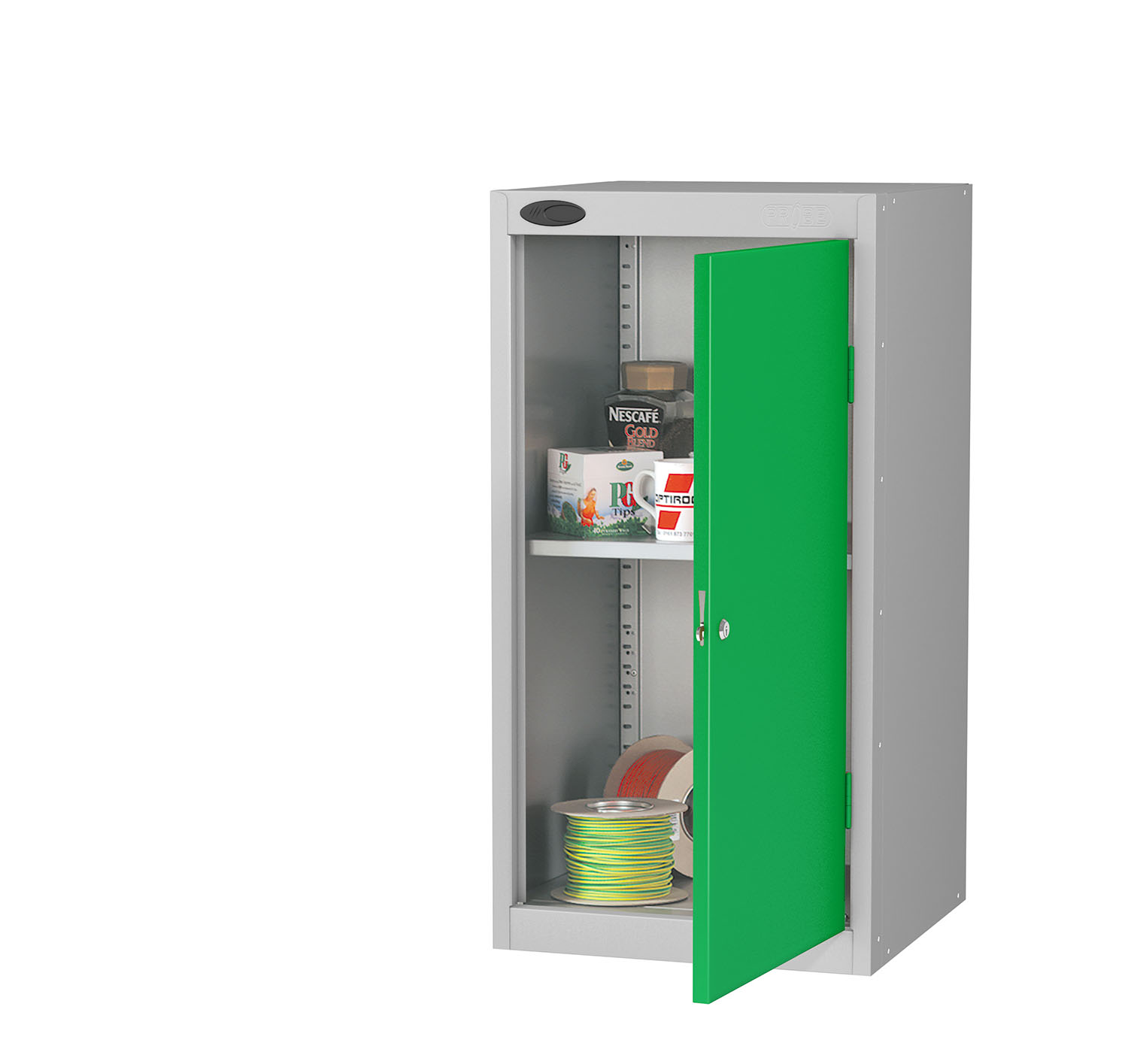 Probe tool cupboard green