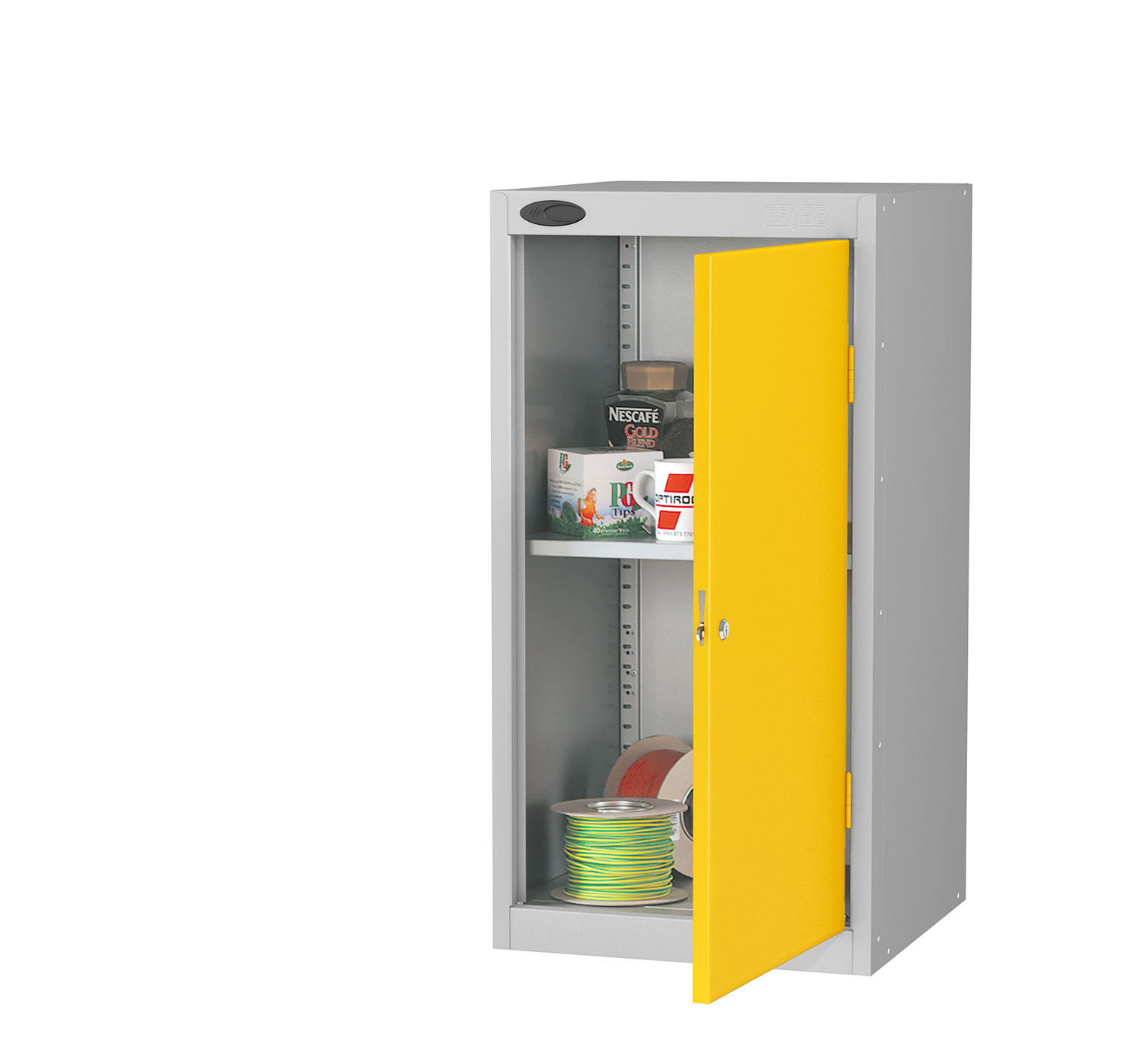 Probe tool cupboard yellow