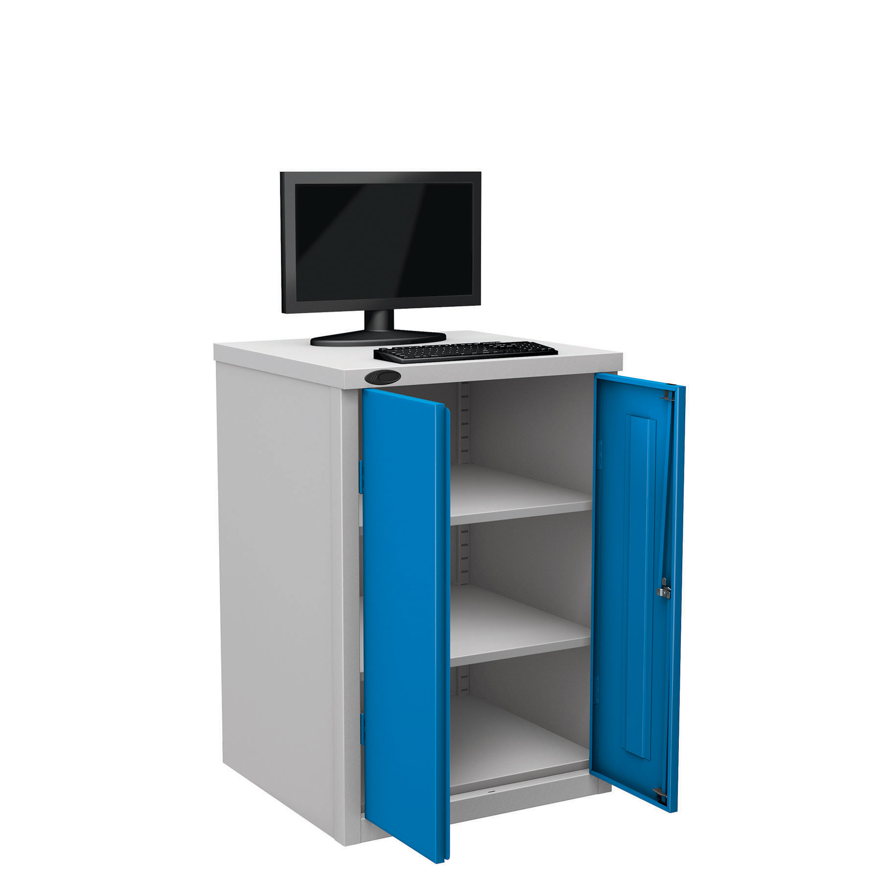 Probe workstation base monitor blue