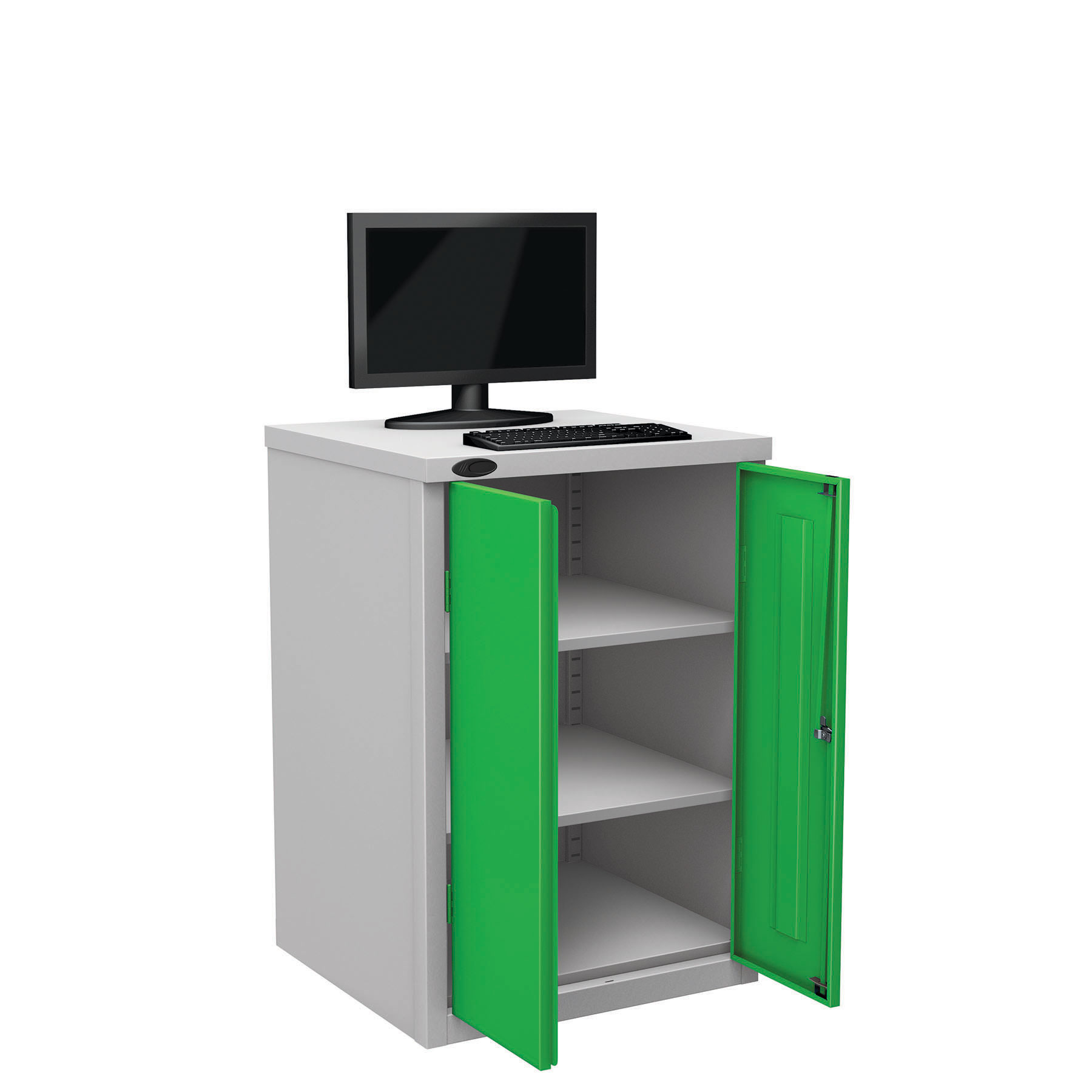 Probe workstation base monitor green