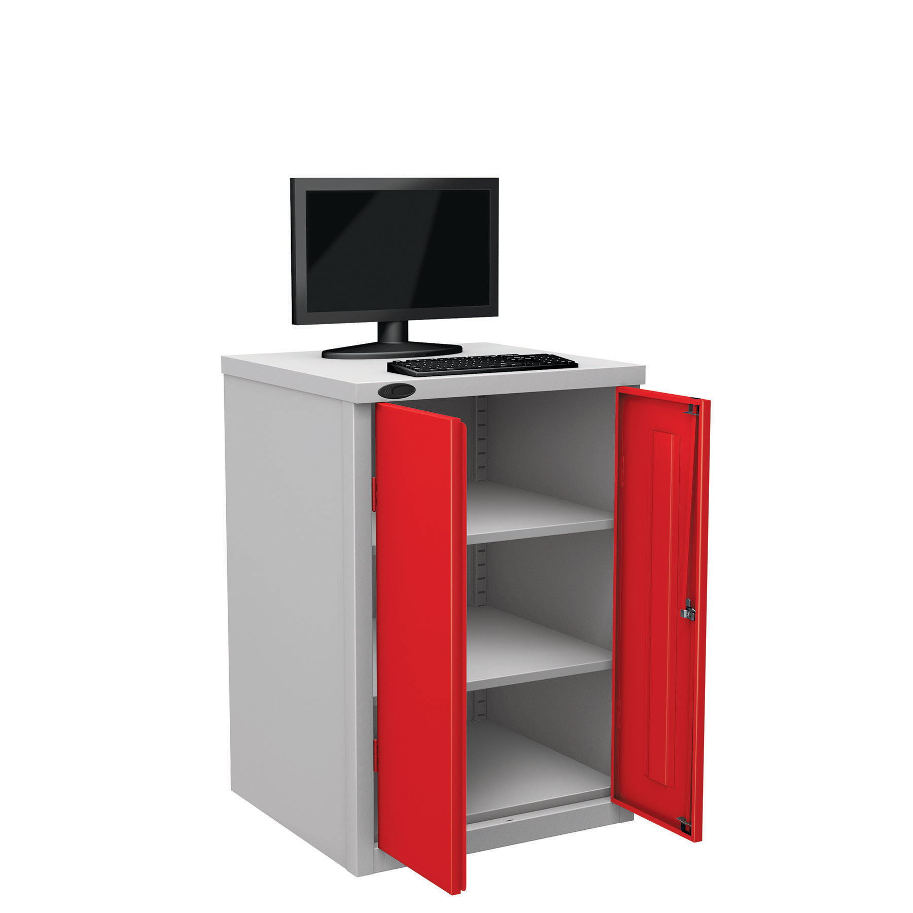 Probe workstation base monitor red