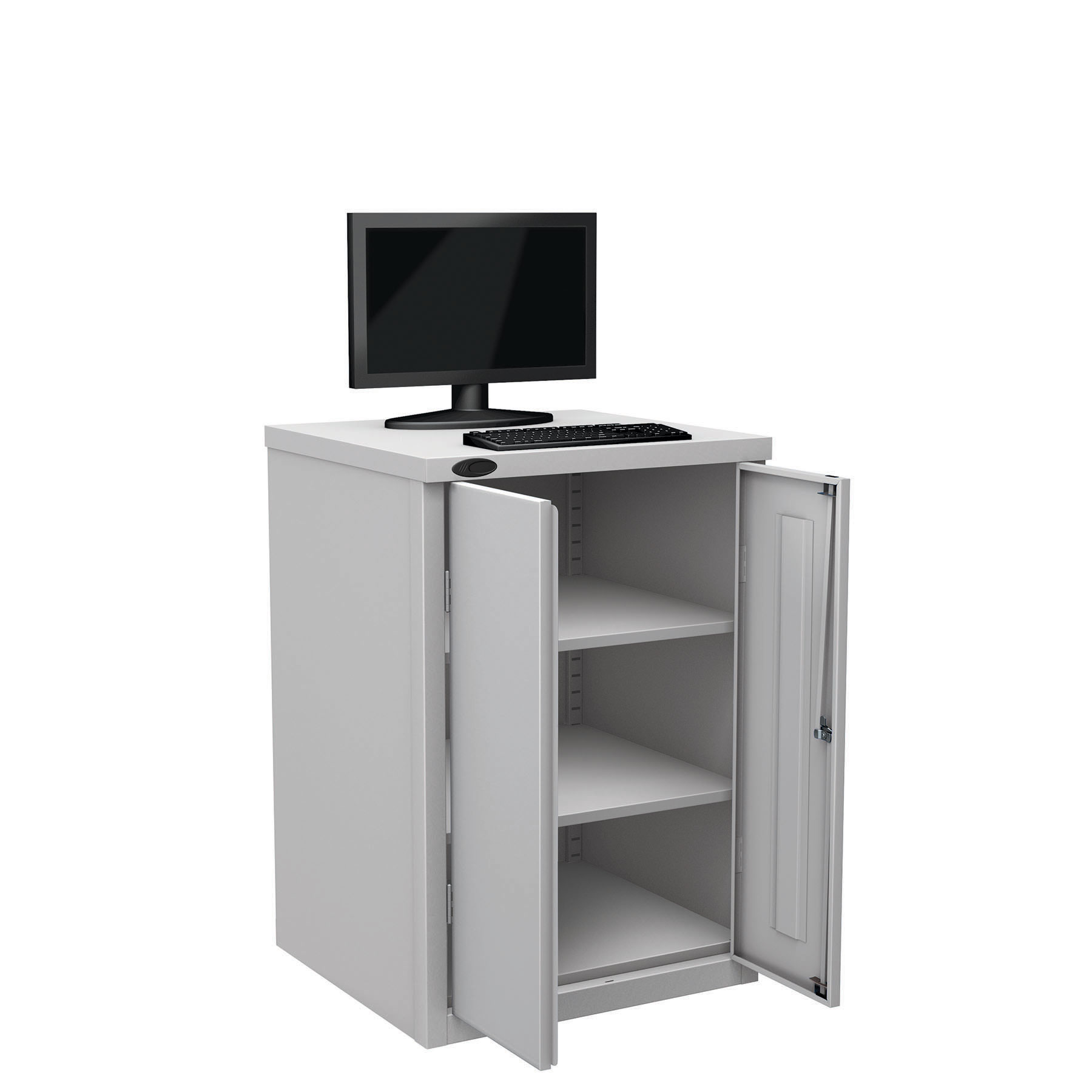 Probe workstation base monitor silver
